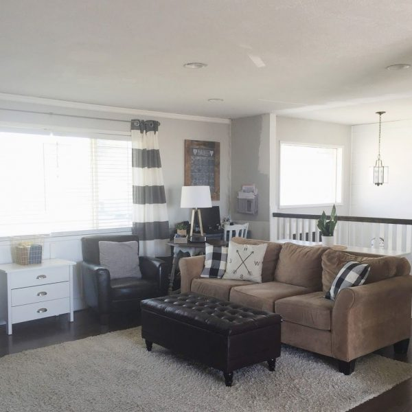 Keep Home Simple: Our Split Level Fixer Upper | Living Room Split Level Living Room Decorating