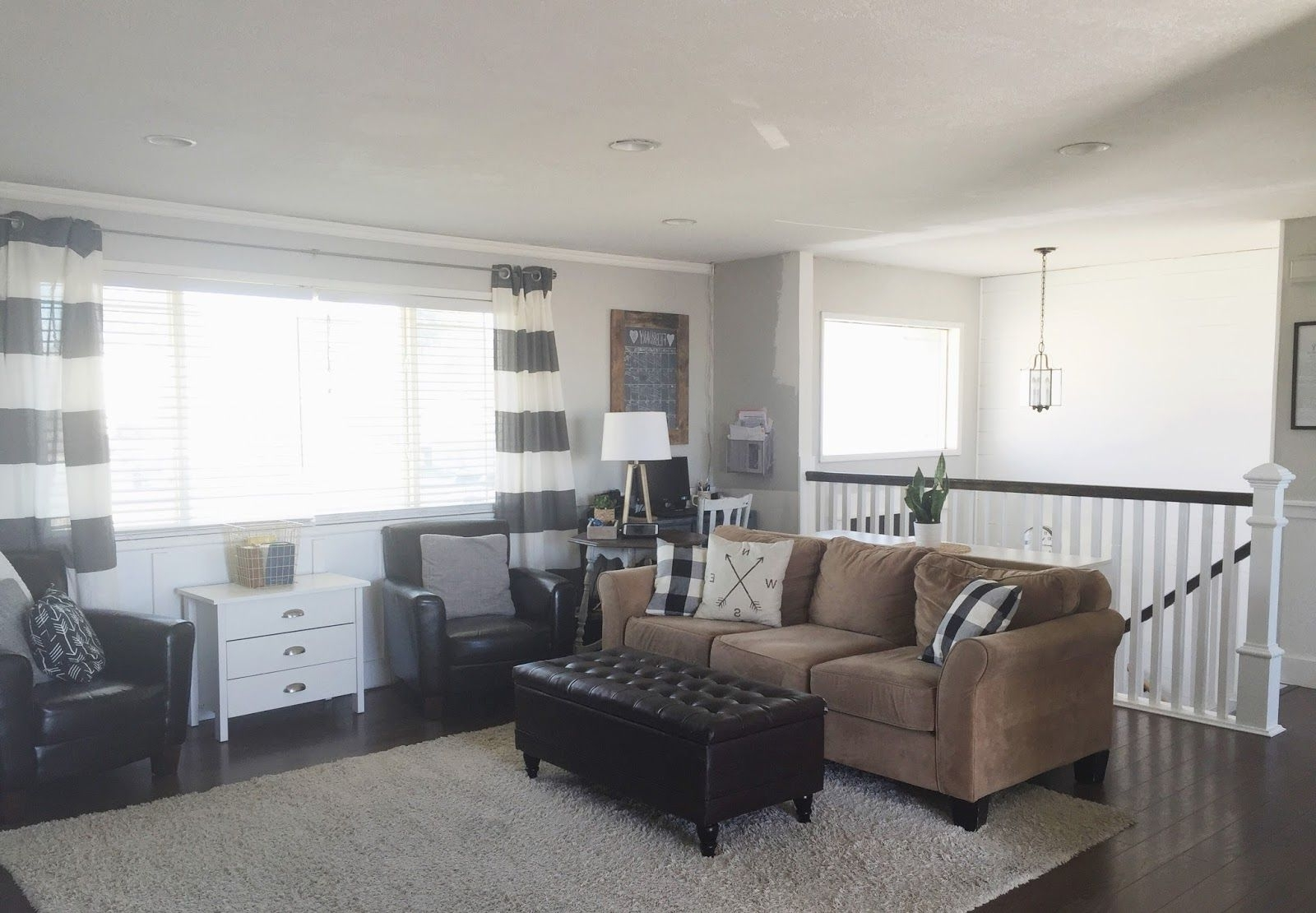 Keep Home Simple: Our Split Level Fixer Upper   Living Room Split Level Living Room Decorating