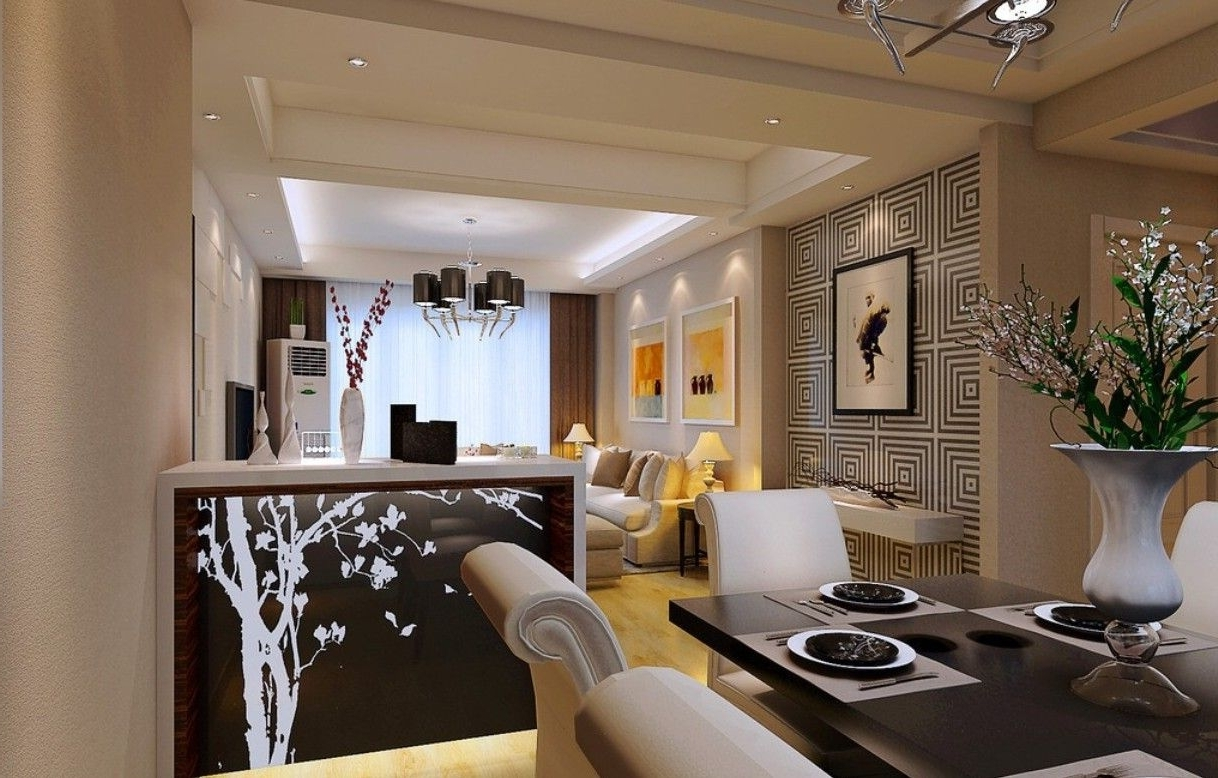 L Shaped Dining & Living Room Decorating – Think Cleverly 20+ L Shaped Living Room Dining Room Decorating Inspirations