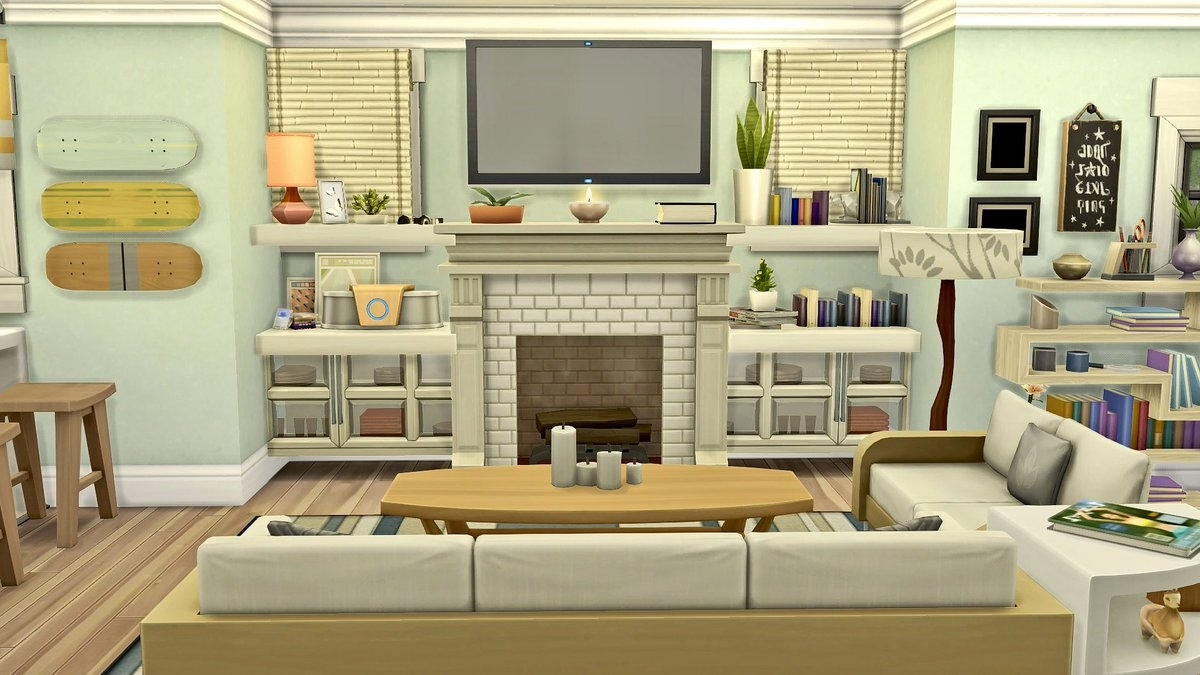 """Lily On Twitter: """"How Cute Is This Room?? Speed Build Coming 40+ Sims 4 Living Room No Cc Inspirations"""