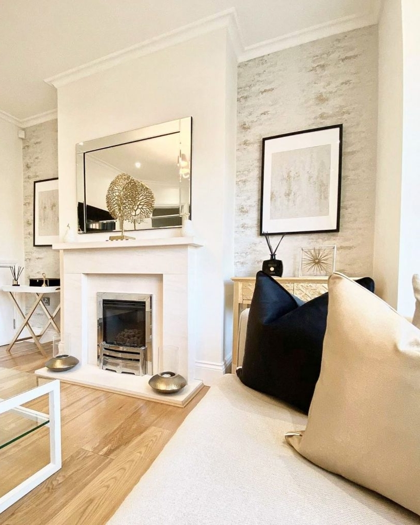 Living Room Decorating Ideas | I Love Wallpaper Small Living Room With Chimney Breast