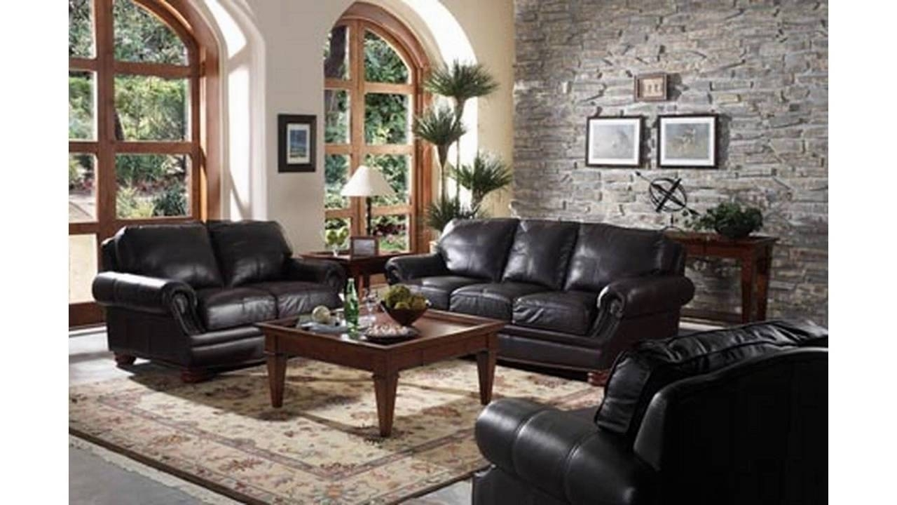 Living Room Ideas With Black Sofa Living Room Decorating Black Leather Couch