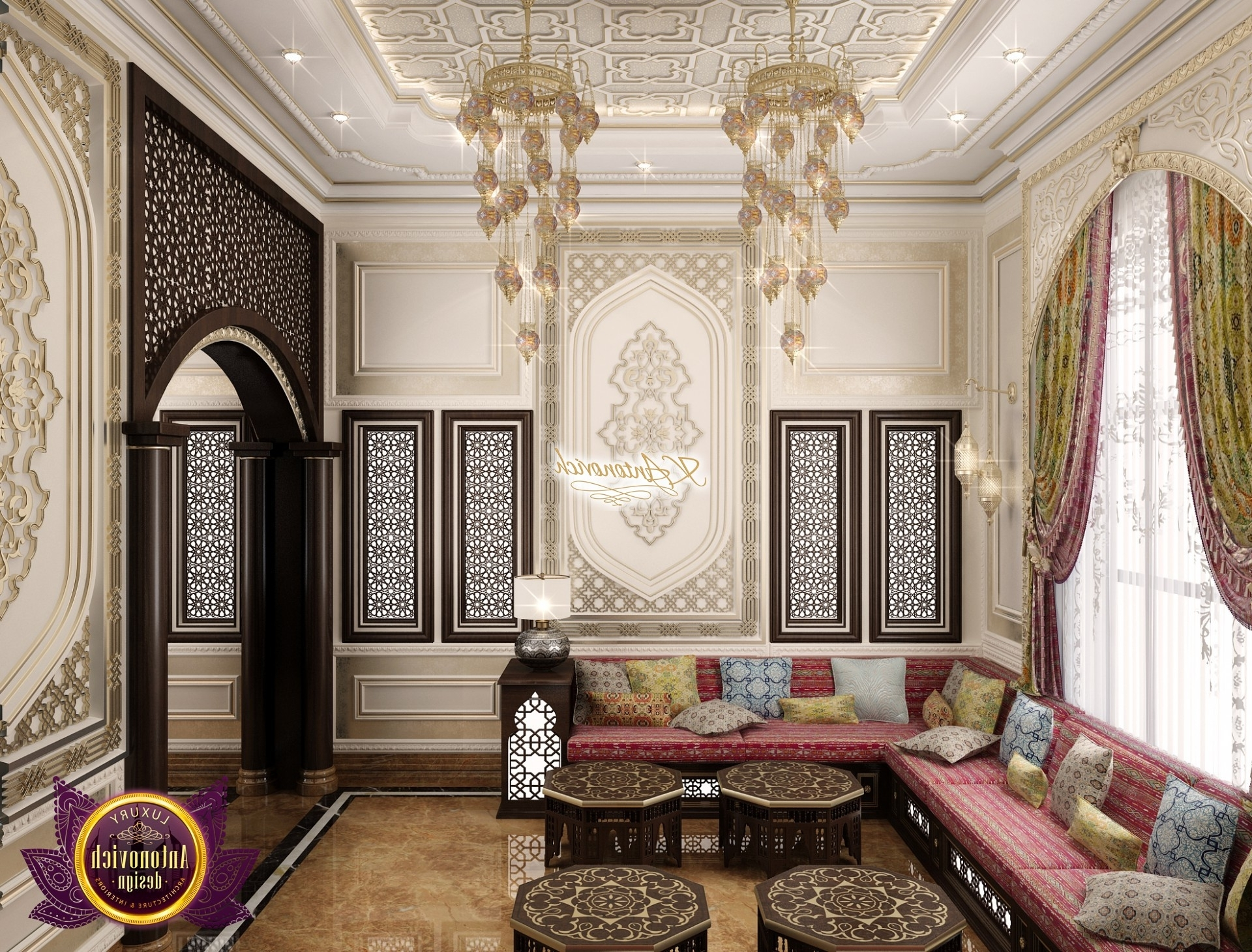 Living Room In Arabic Style Arabian Dining Room Decor