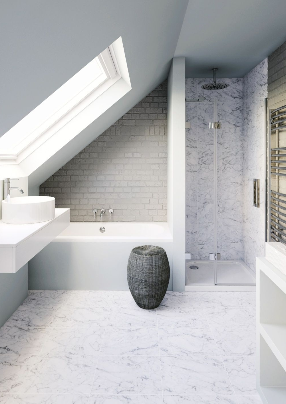 Loft Conversion Bathroom With Fittings From Bathrooms Small Bathroom Loft Conversion