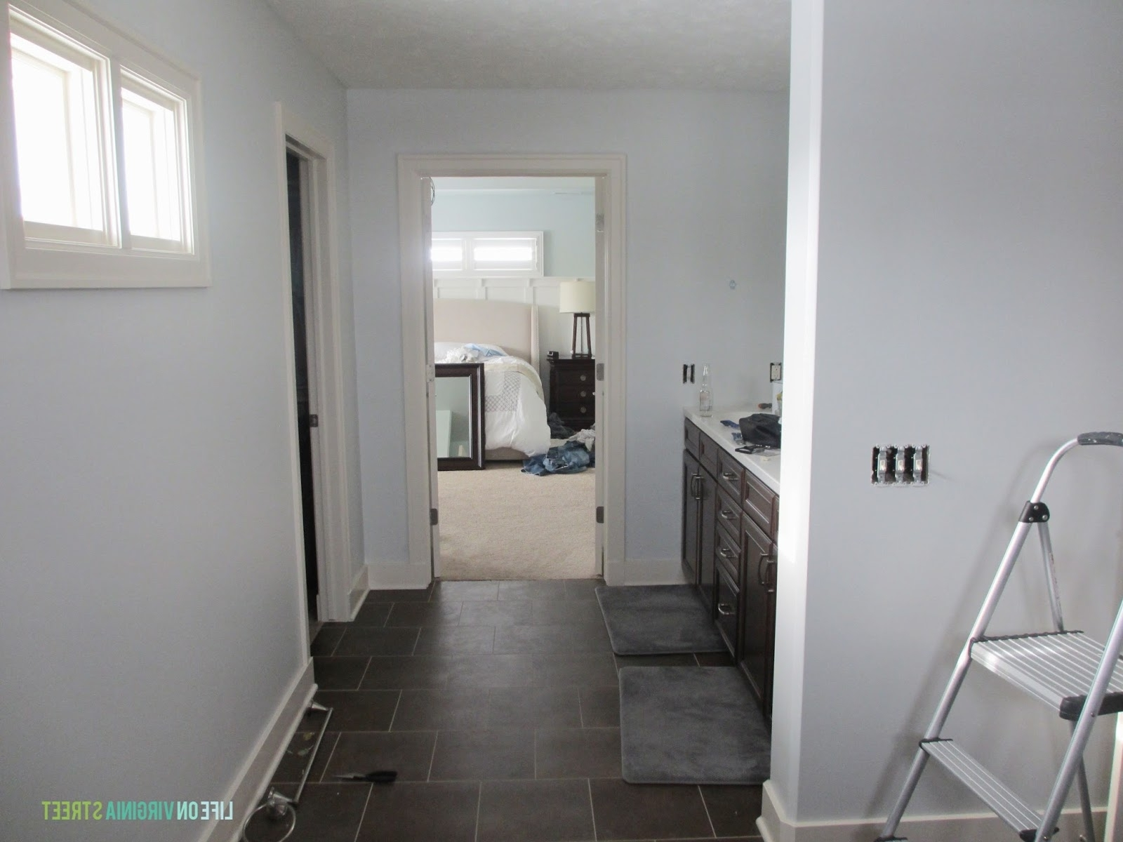 Master Bath Refresh: Now Under Construction | Life On Behr Light French Gray Living Room