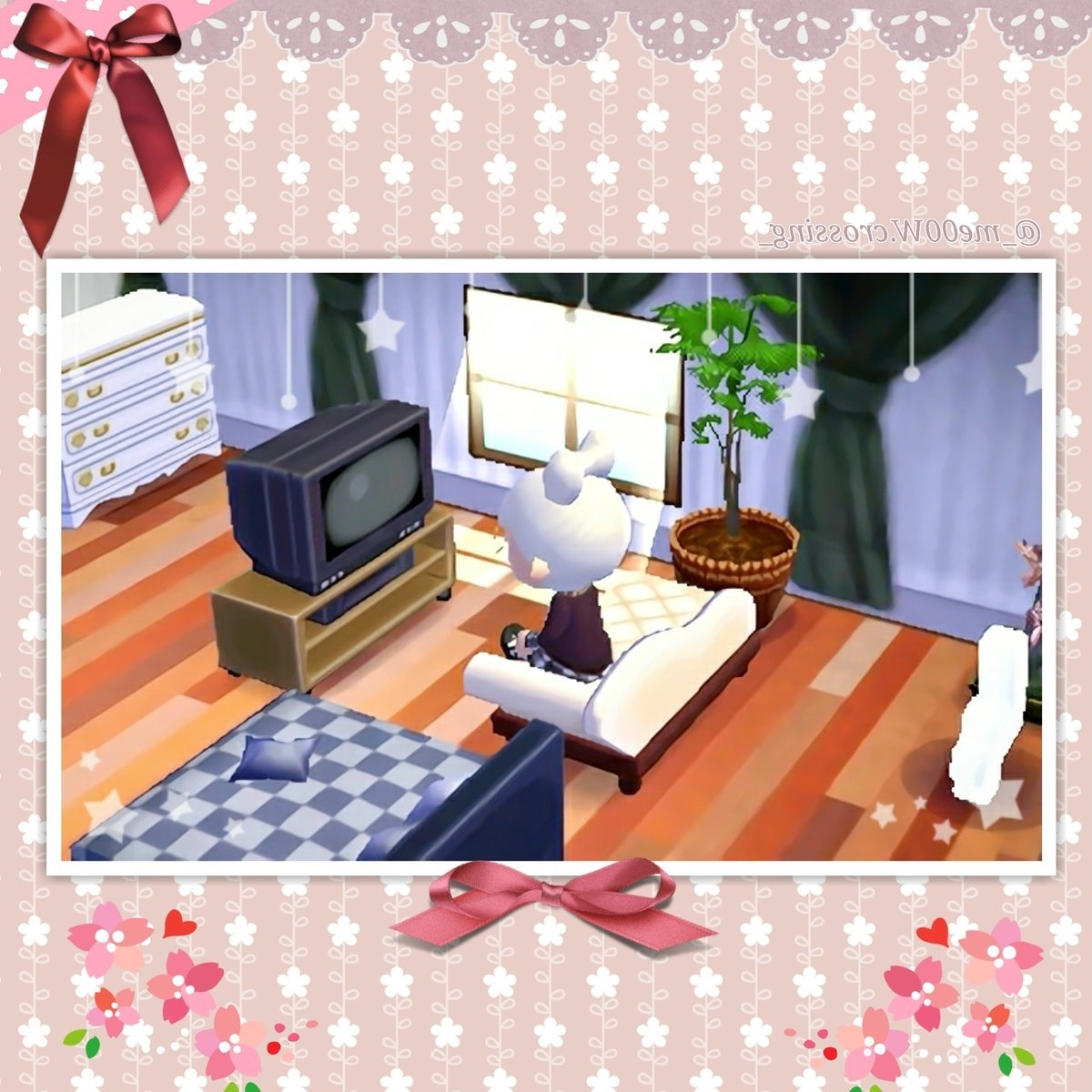 """Me00W On Twitter: """"My Living Room 💟 #Animalcrossing #Acnl 20+ Acnl Living Room Inspirations"""
