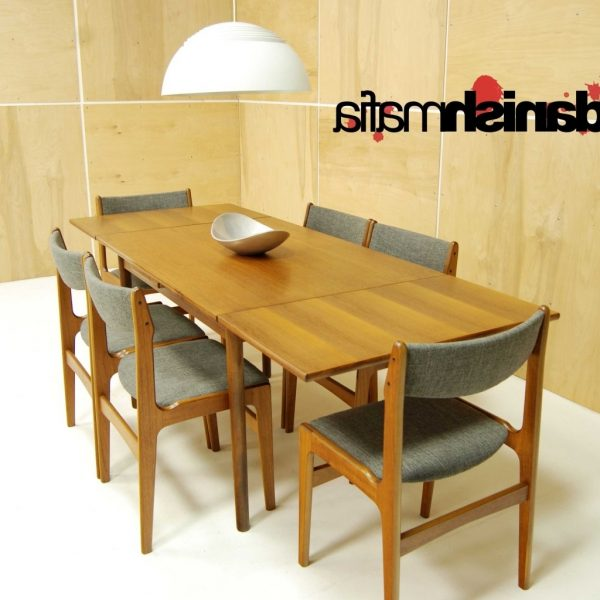 Mid Century Danish Modern Teak Dining Complete Set Table & 6 30+ Mid Century Modern Teak Dining Room Table Inspirations