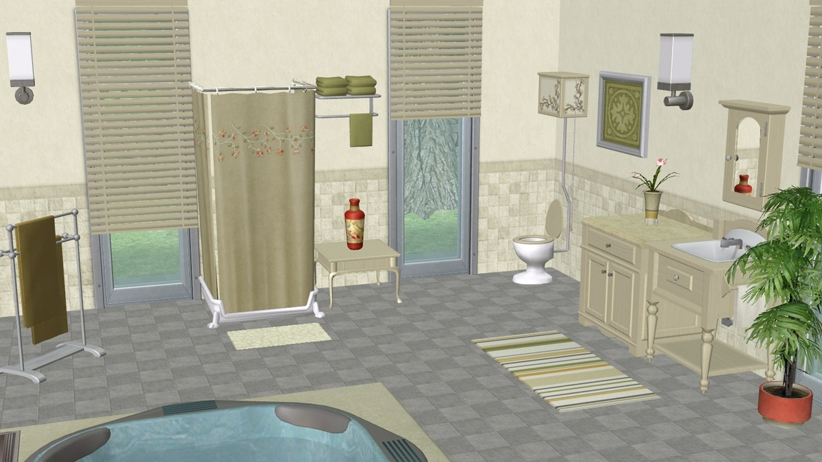 Mod The Sims Claybee Bath (Maxis Recolours In Clay And 10+ Sims 2 Bathroom Inspirations