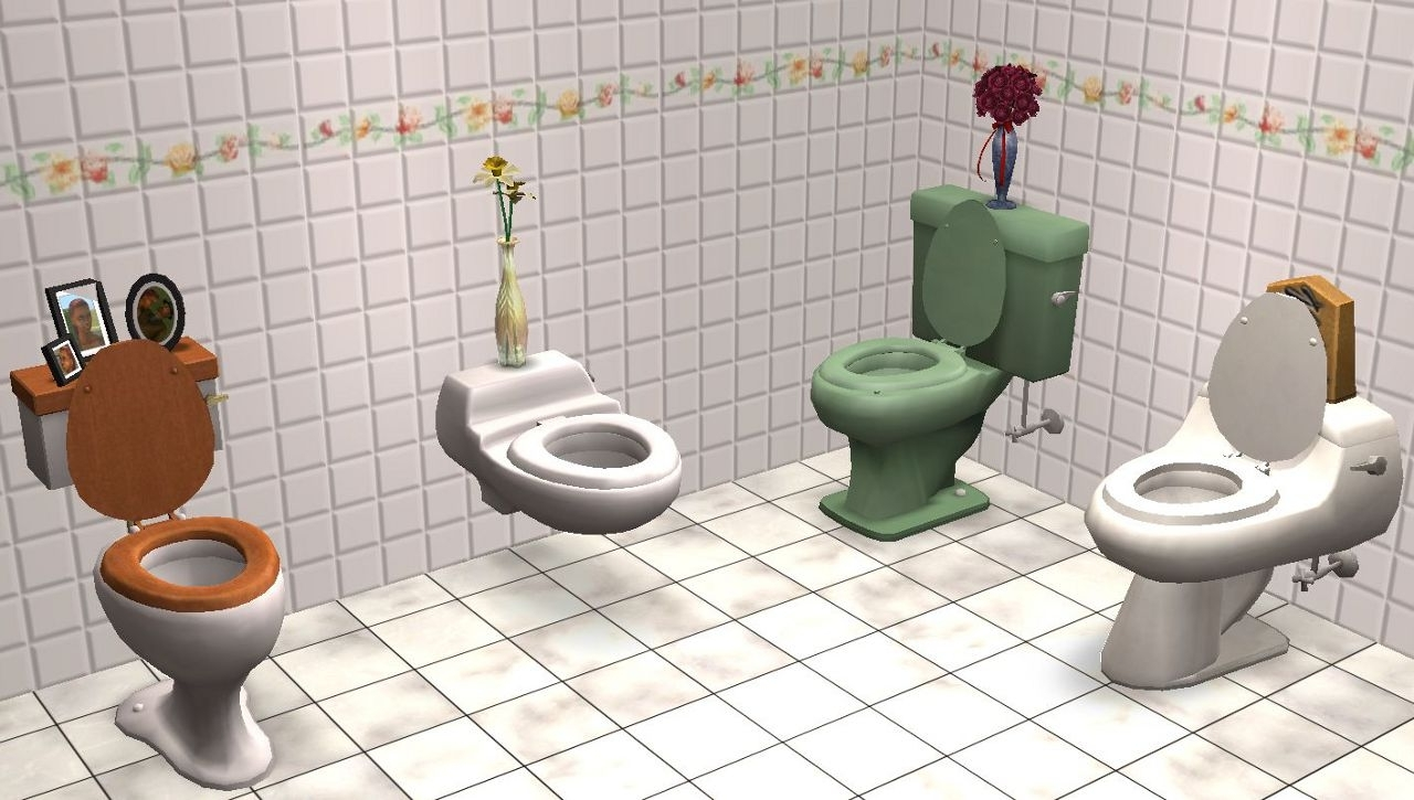 Mod The Sims (Updated) A Slot For Maxis Toilets 10+ Sims 2 Bathroom Inspirations