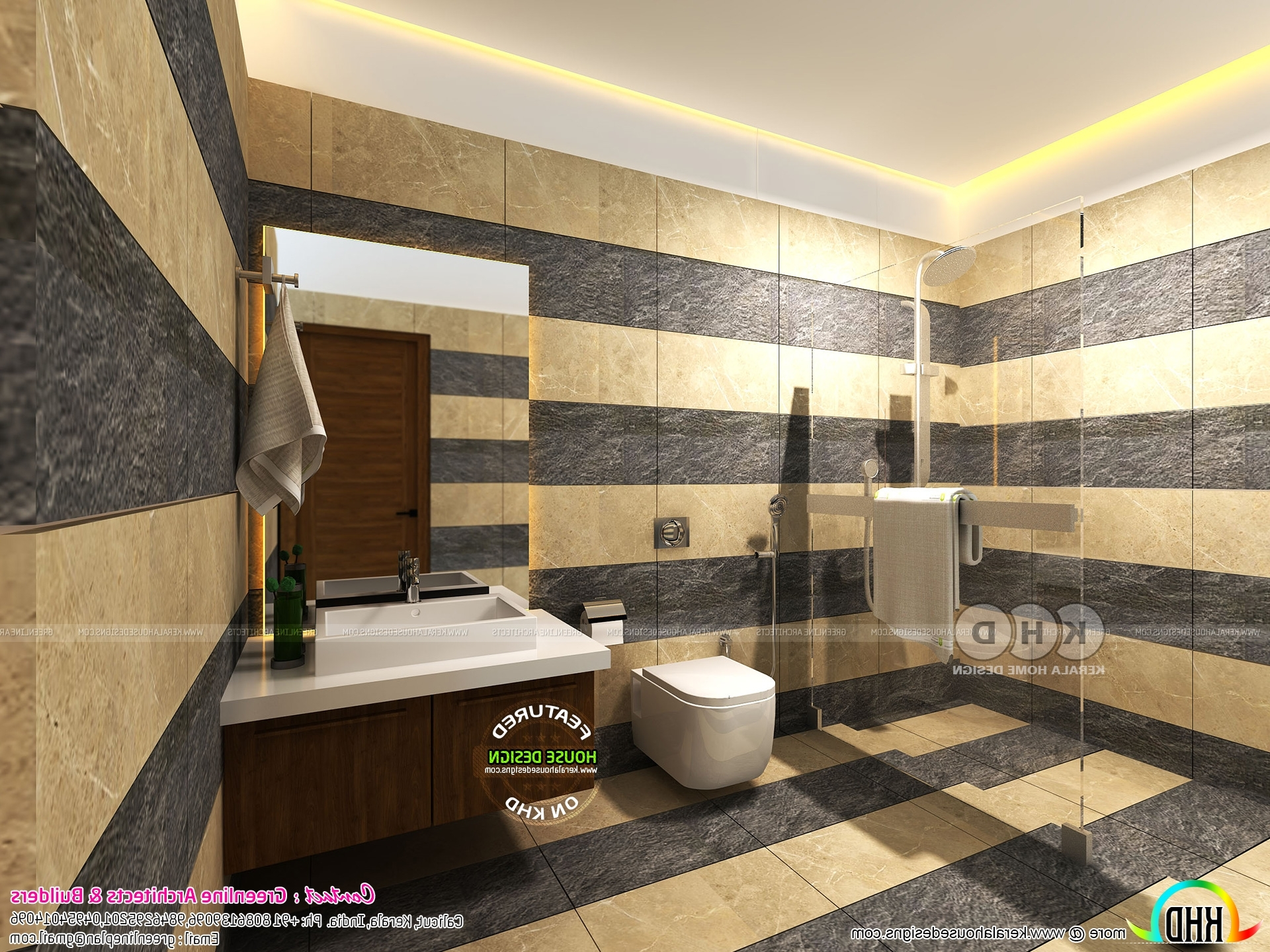 Modern Bathroom Interiors In Kerala | Kerala Home Design Bathroom Tiles Designs Kerala