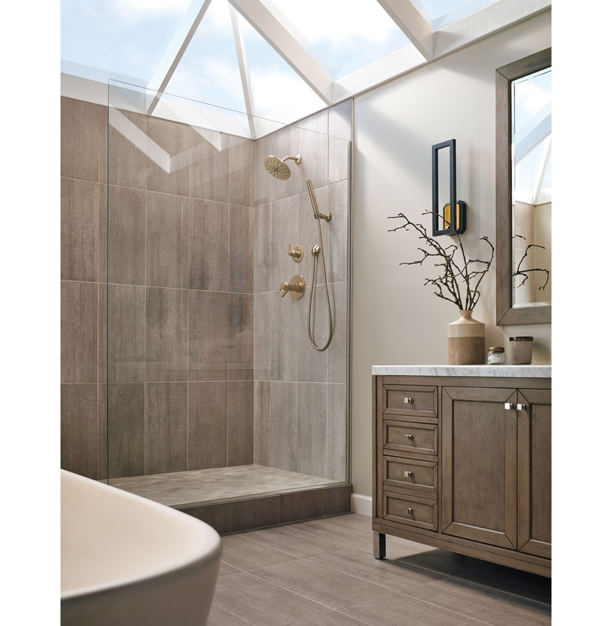 Modern Brushed Gold Finishes For Your 2019 Kitchen & Bath Champagne Bathroom Suite