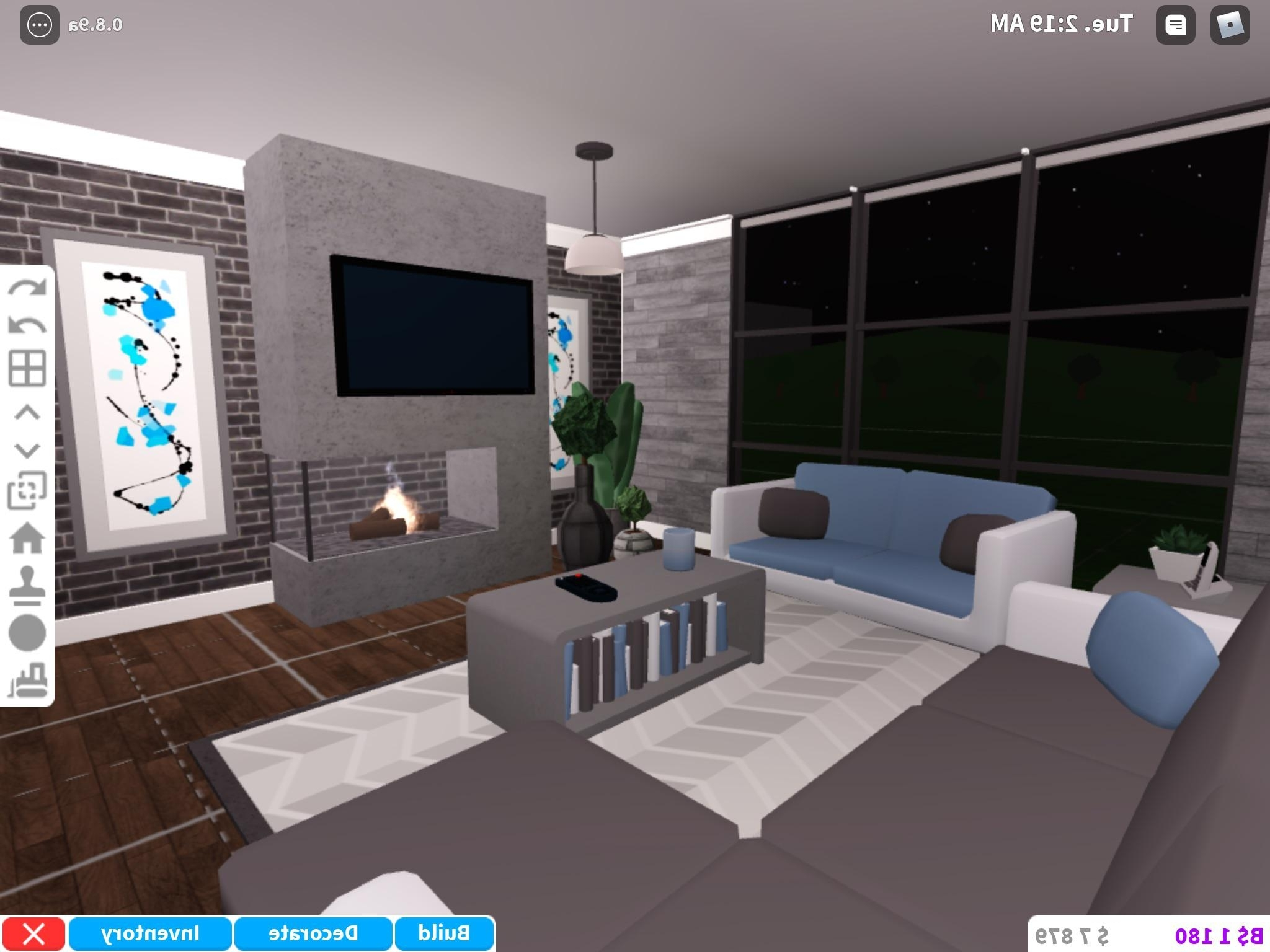 Modern/Stylish Looking Living Room (By The Way I Really Love 30+ Bloxburg Living Room Ideas