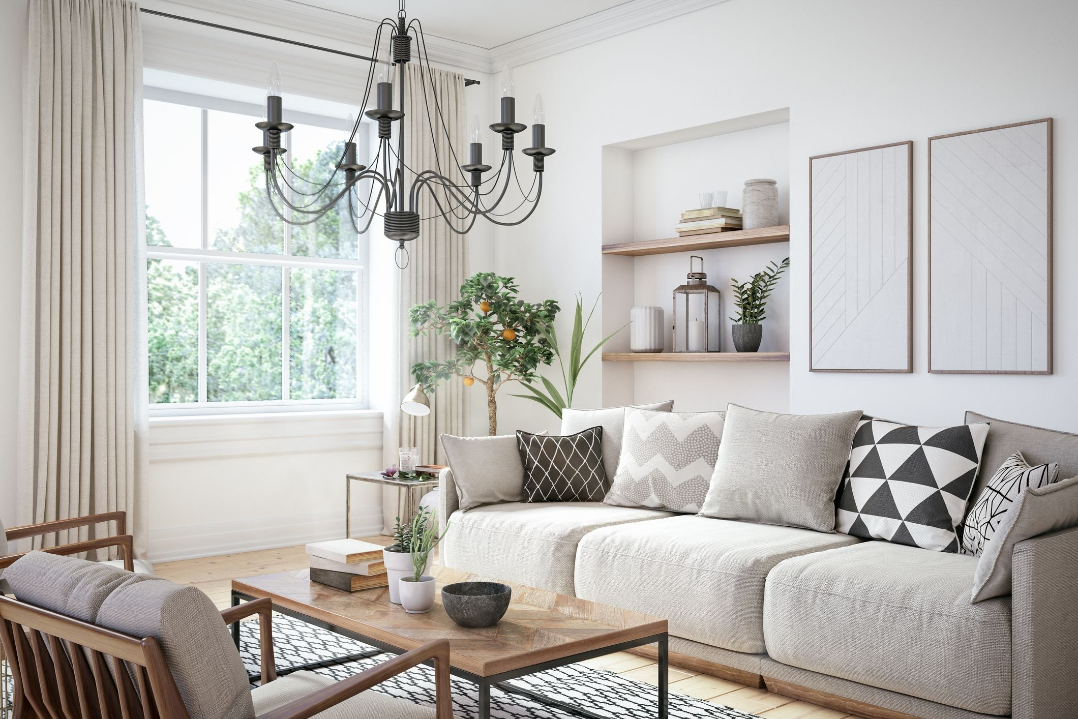 Monochromatic Living Rooms That Are Anything But Boring Monochrome Living Room Decorating
