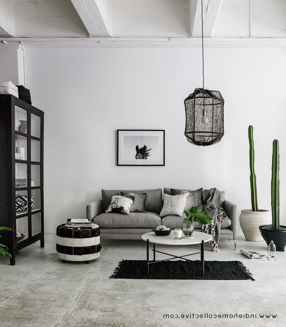 Monochrome Lounge Styling/Photography: Indie Home 40+ Monochrome Living Room Decorating Inspirations