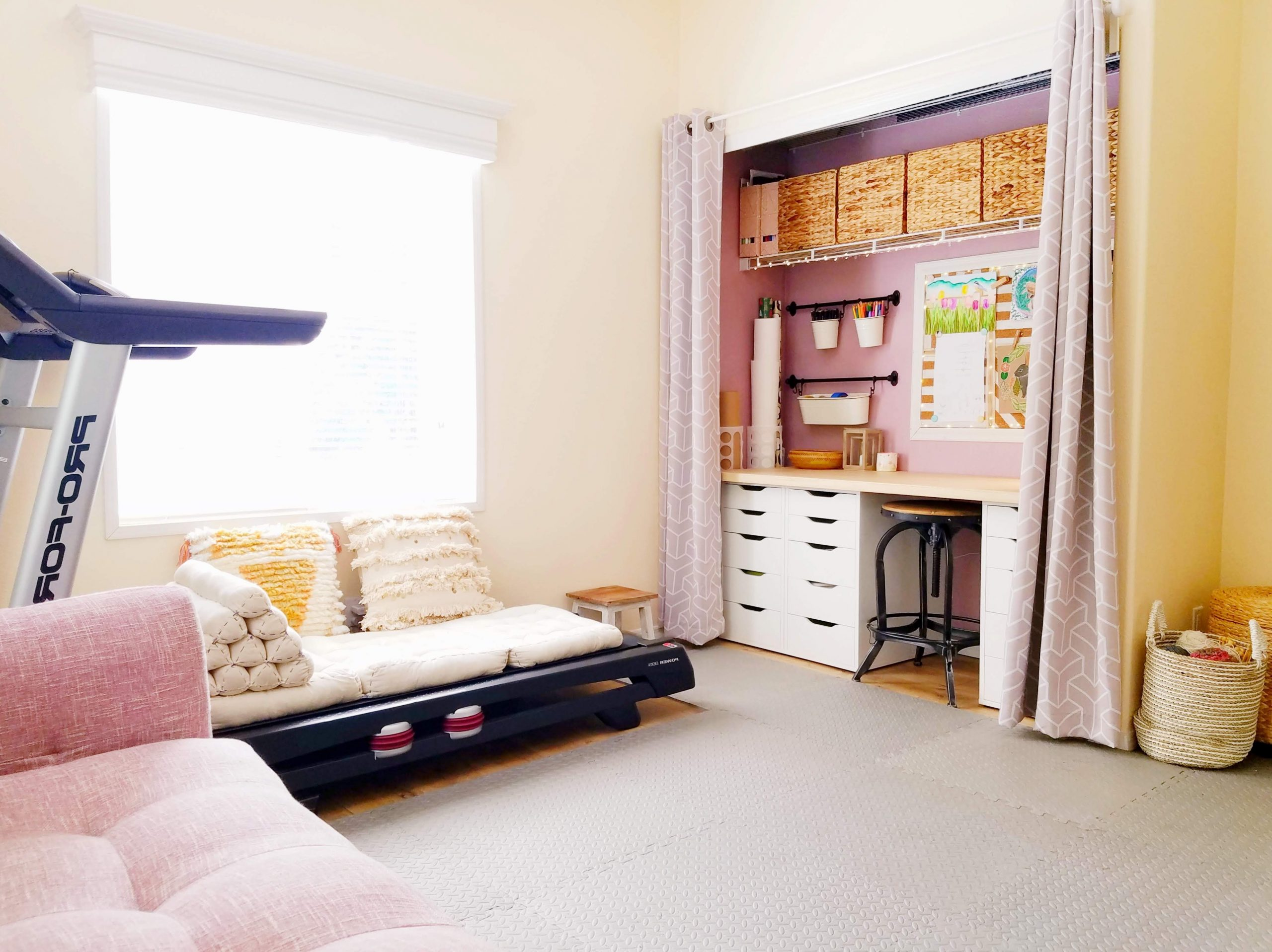Multi Purpose Guest Room – The Artful Roost Decorate Living Room With Treadmill
