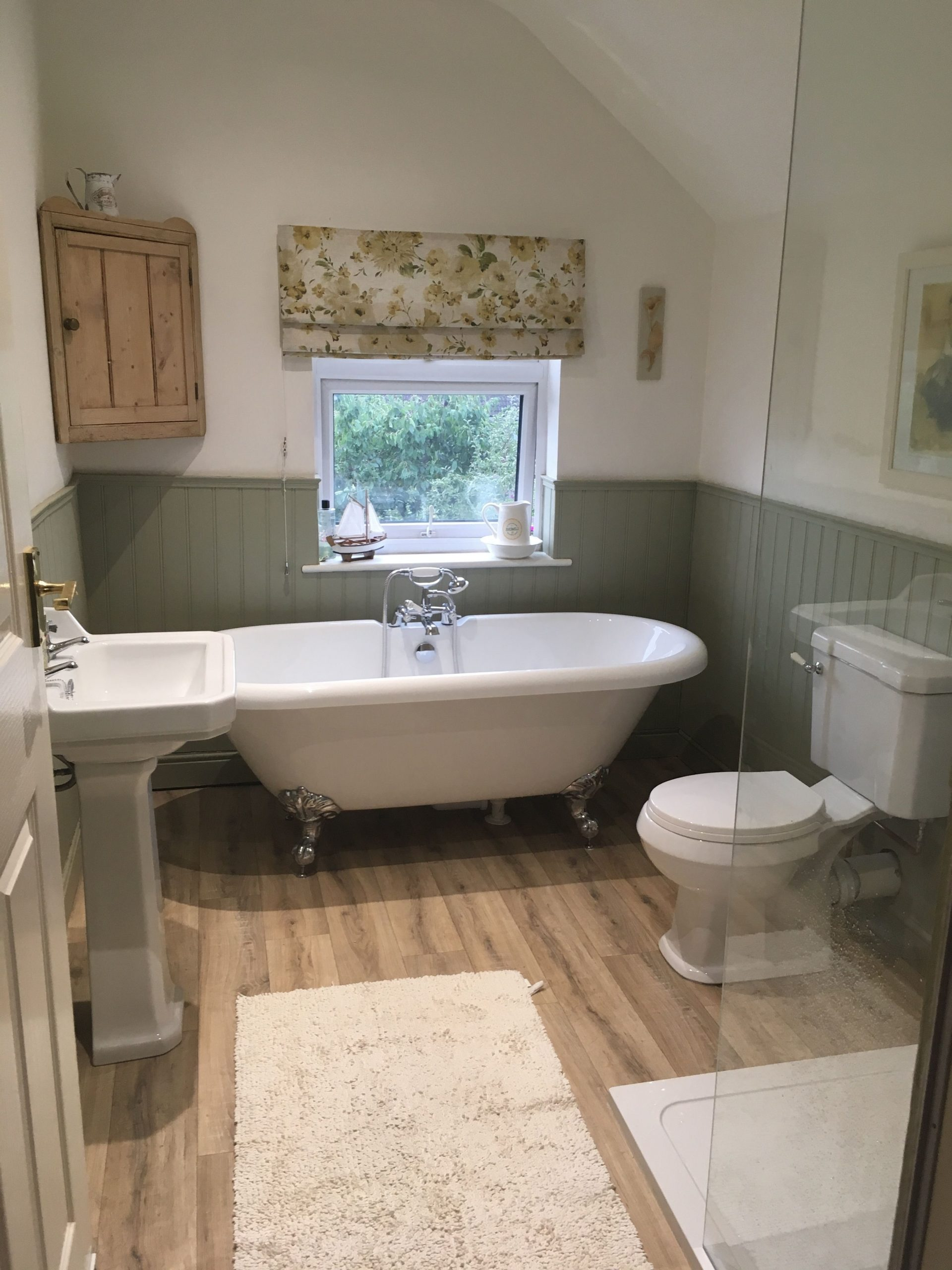 My Finished Bathroom With Tongue And Groove Panelling Tongue Groove Bathroom
