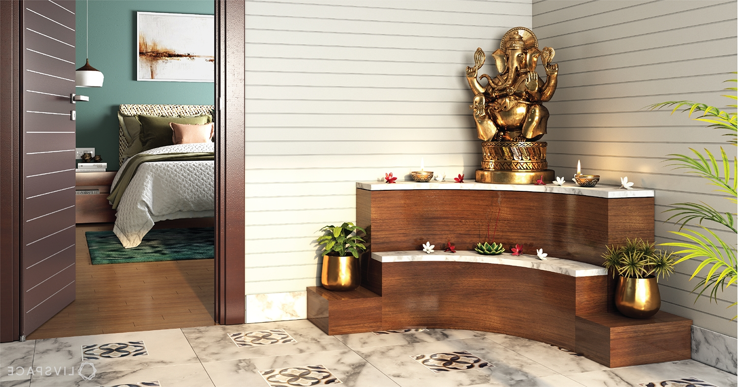 No Dedicated Pooja Room? Here Are Expert Solutions Pooja Shelf In Living Room