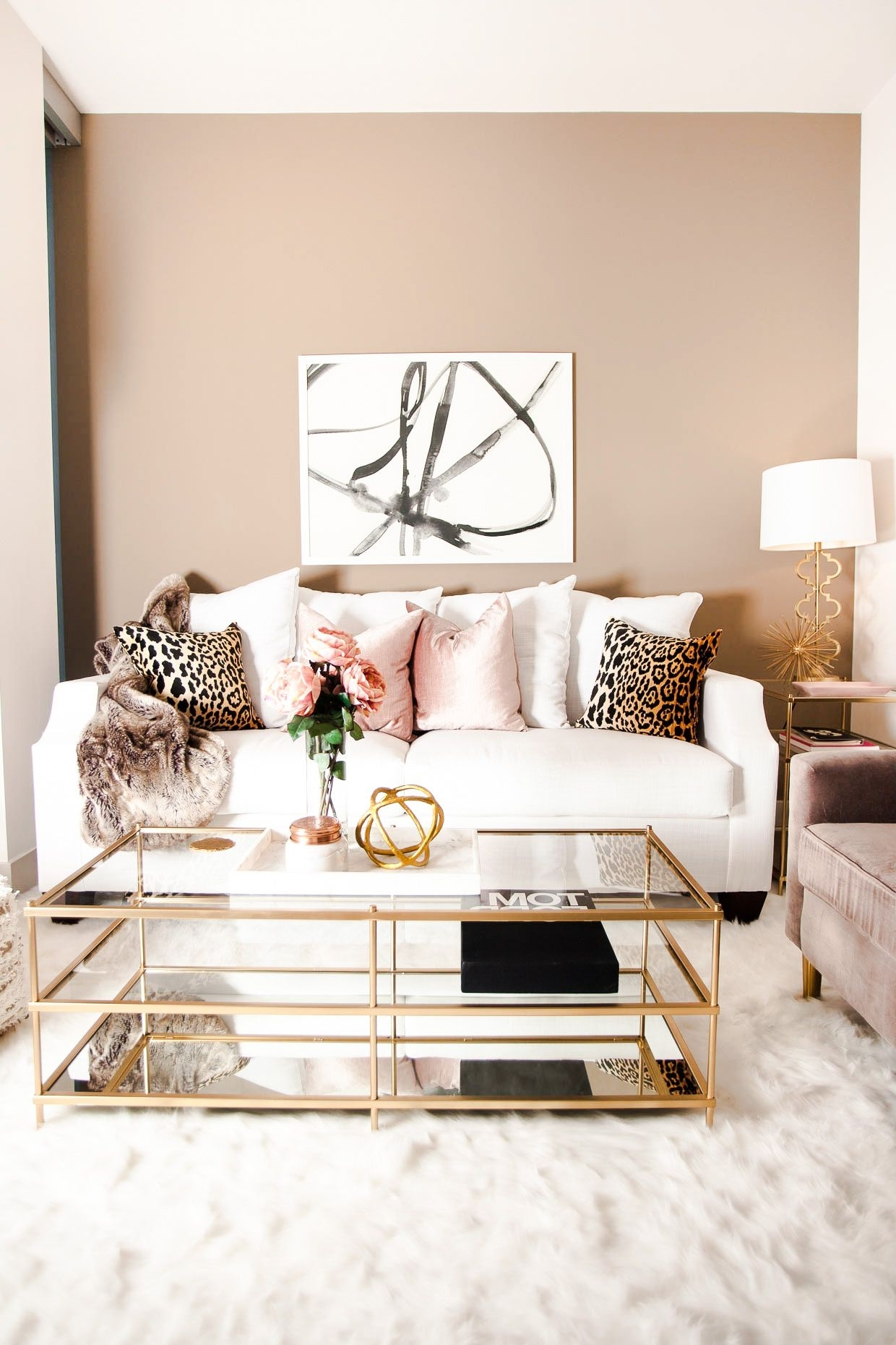 Not My Usual Style But I Really Love This! Love The Leopard 20+ Mink Coloured Living Room Inspirations