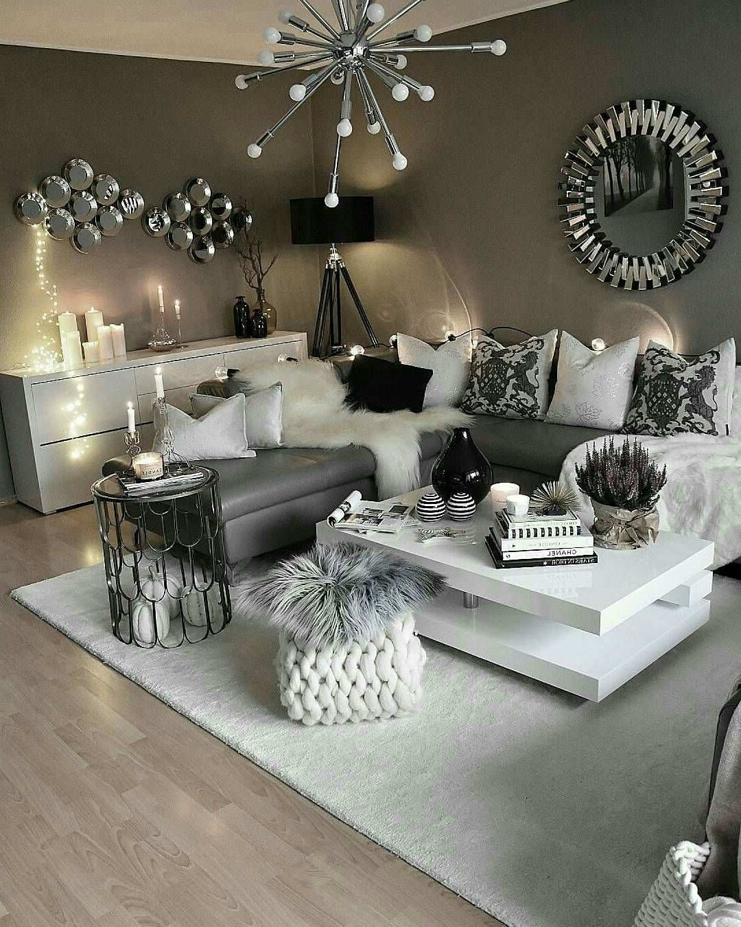 Only Furniture: Glamorous Monochromatic Living Room Ideas Monochrome Living Room Decorating
