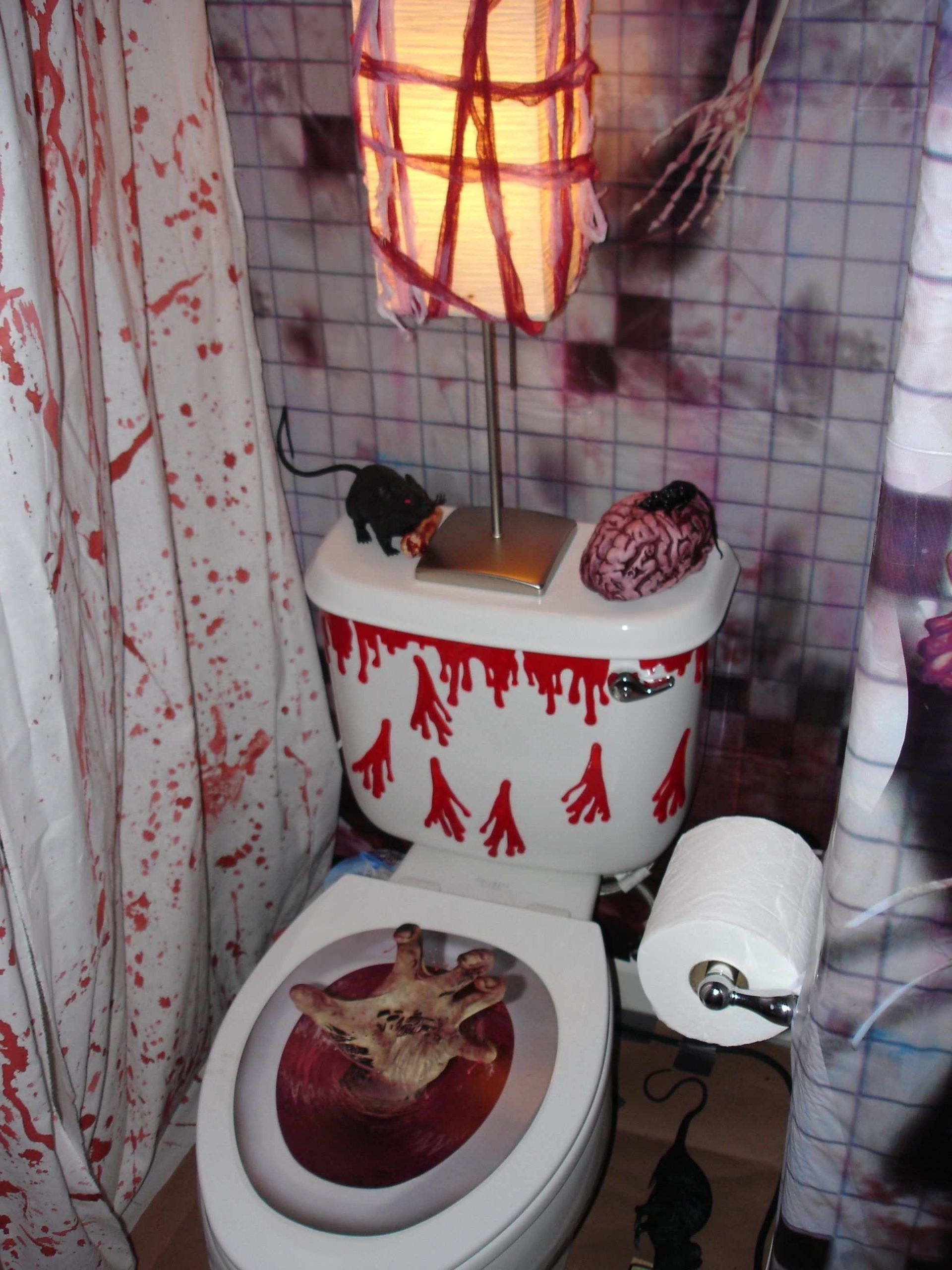 Only Furniture: Interesting How Decorate Bathroom Halloween 20+ Scary Halloween Bathroom Inspirations