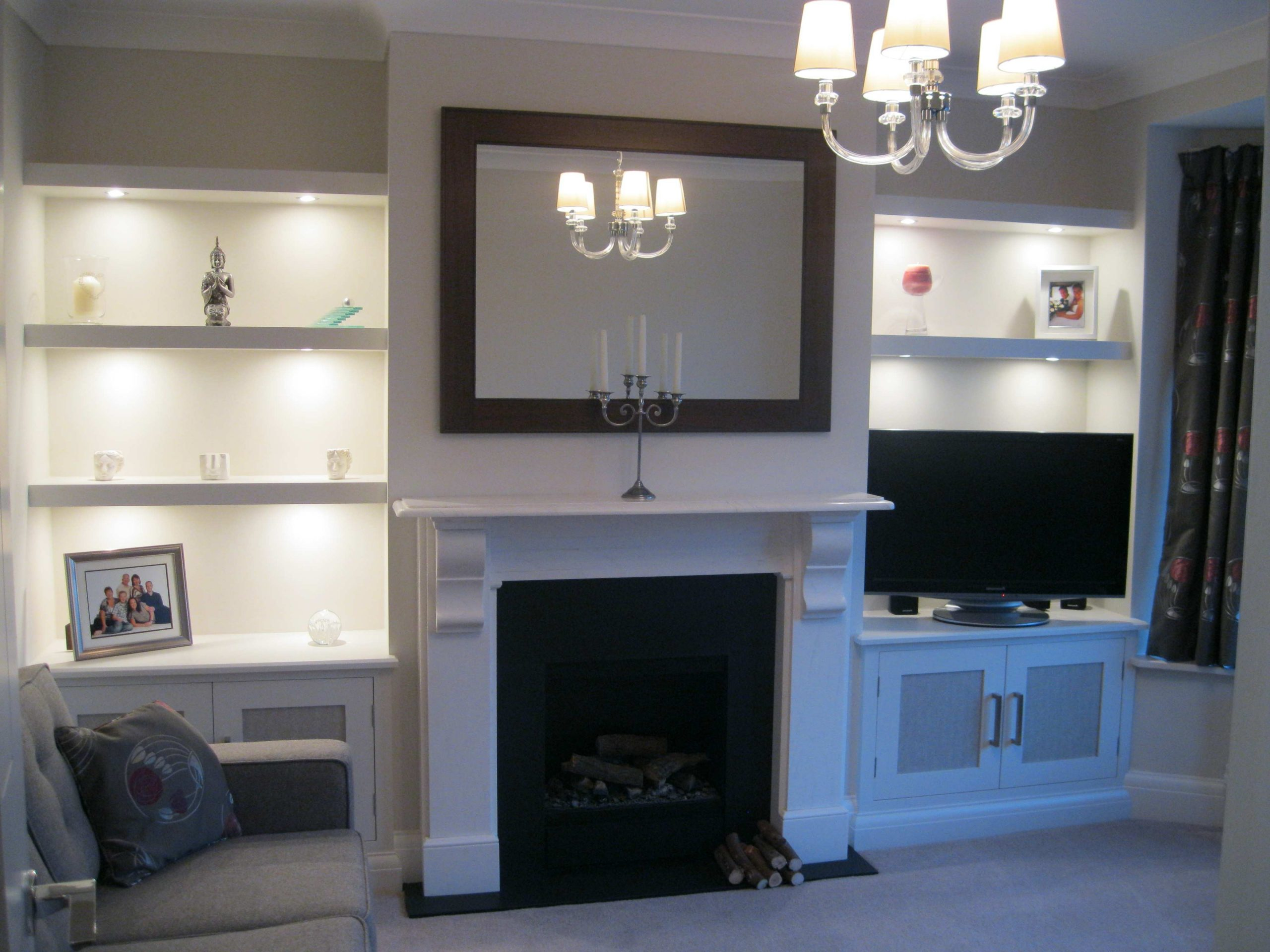 Only Furniture: Remarkable Living Room Alcove Storage Made Alcove Storage Living Room