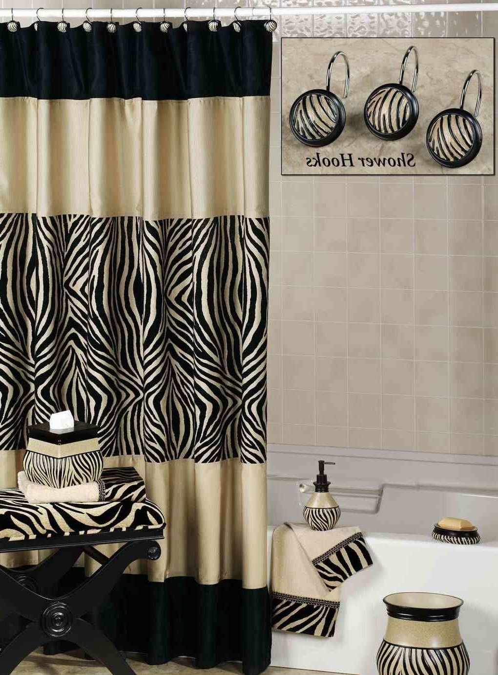 Only Furniture: Zebra Bathroom Themes For Curtain And 30+ Zebra Bathroom Decorating Ideas