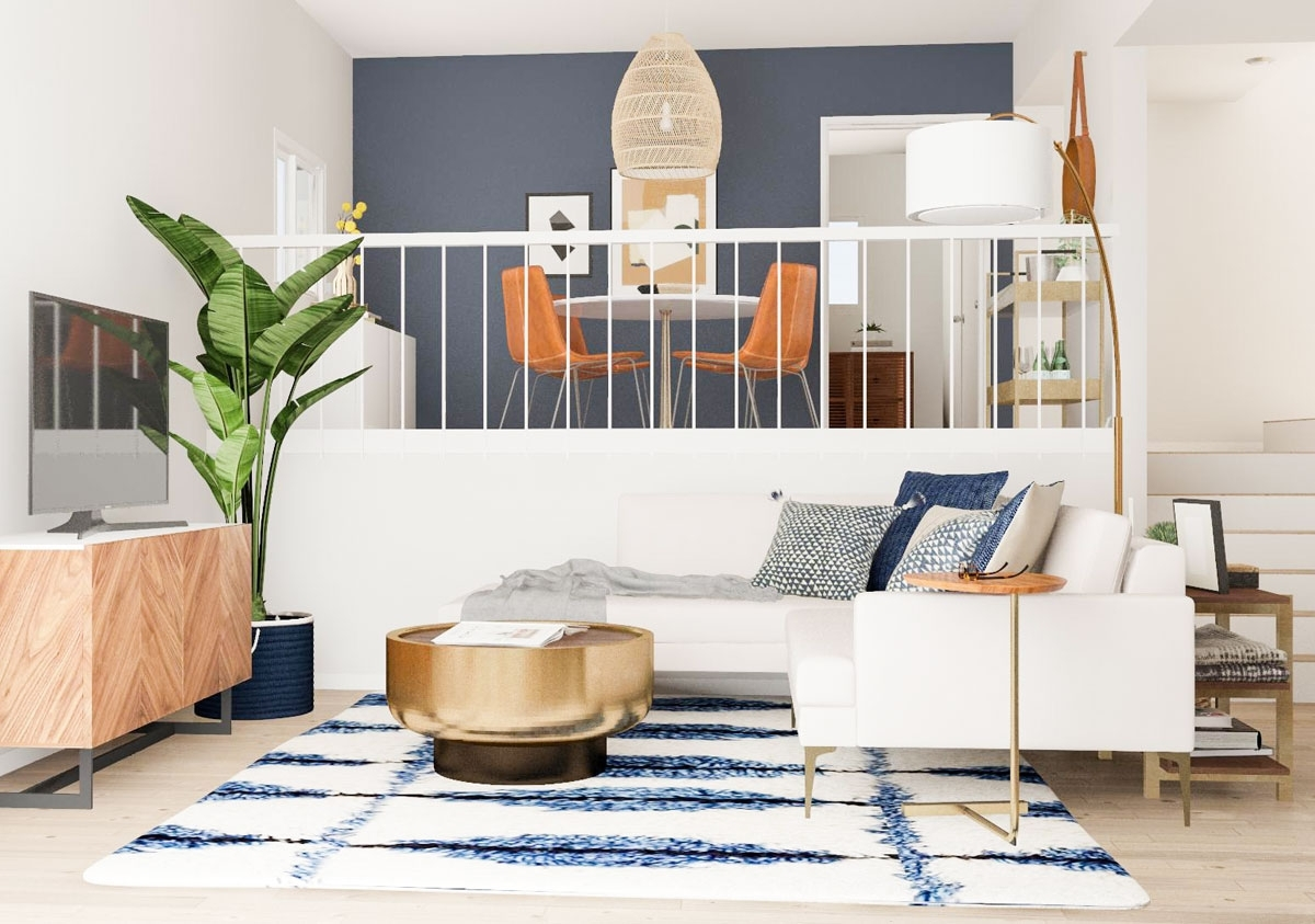 Open Layout Solutions For A Split Level Living Room | Modsy Blog 40+ Split Level Living Room Decorating Ideas