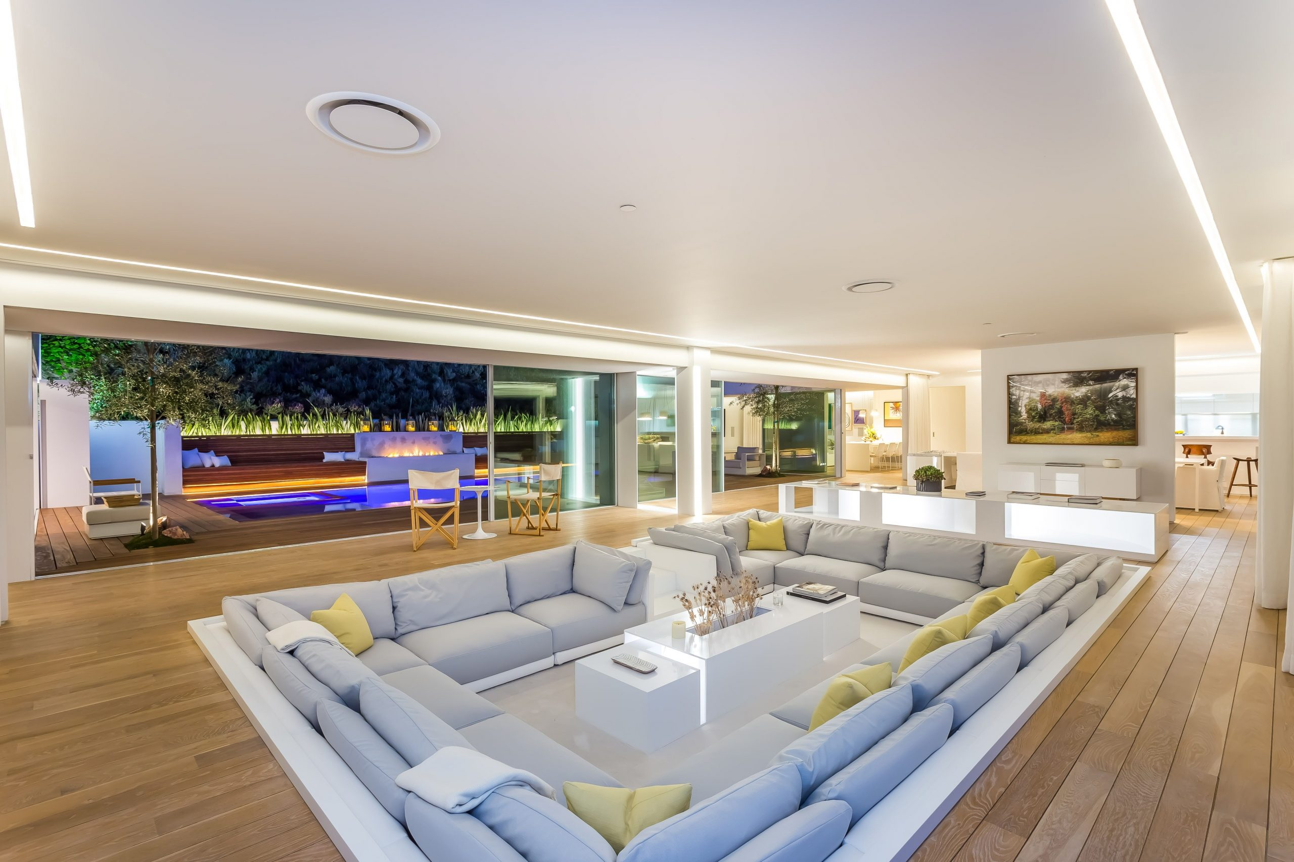 Orlando Bloom Just Listed His Beverly Hills Home Sunken Living Room