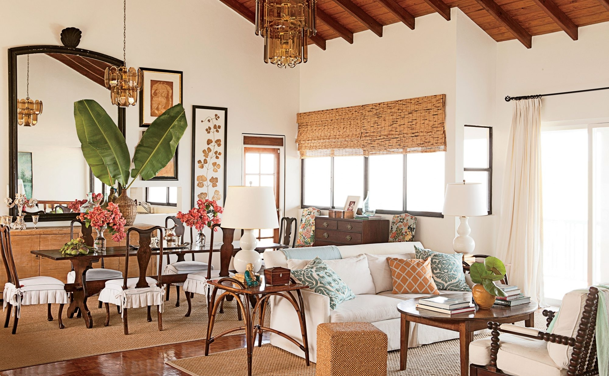 Our 60 Prettiest Island Rooms | Southern Living Hawaiian Decor Living Room