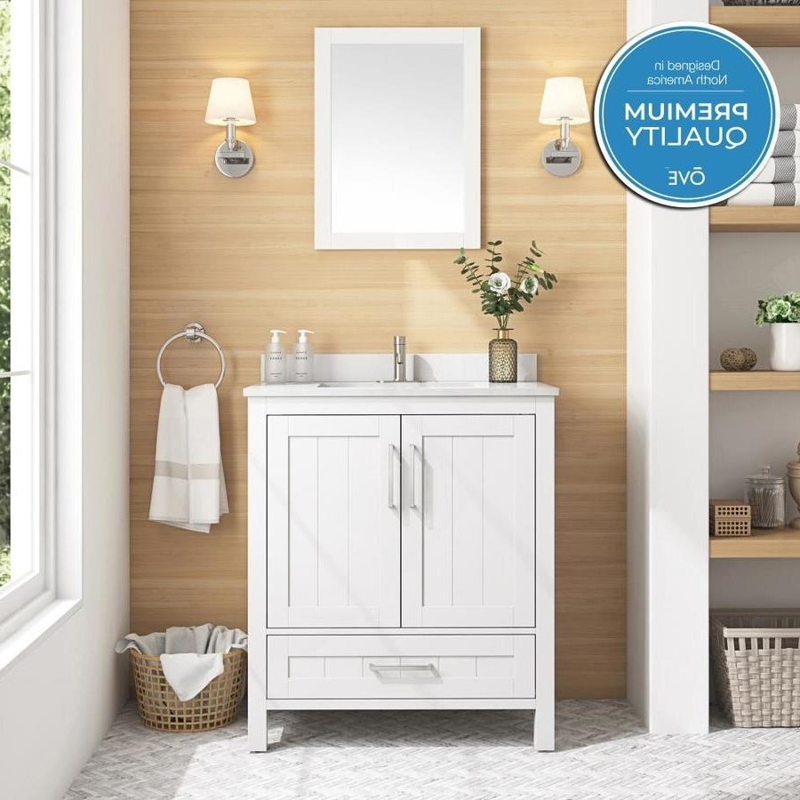 Ove Decors Cliff 30 In White Single Sink Bathroom Vanity With White Cultured Marble Top (Mirror Included) Lowe'S Bathroom Design Tool