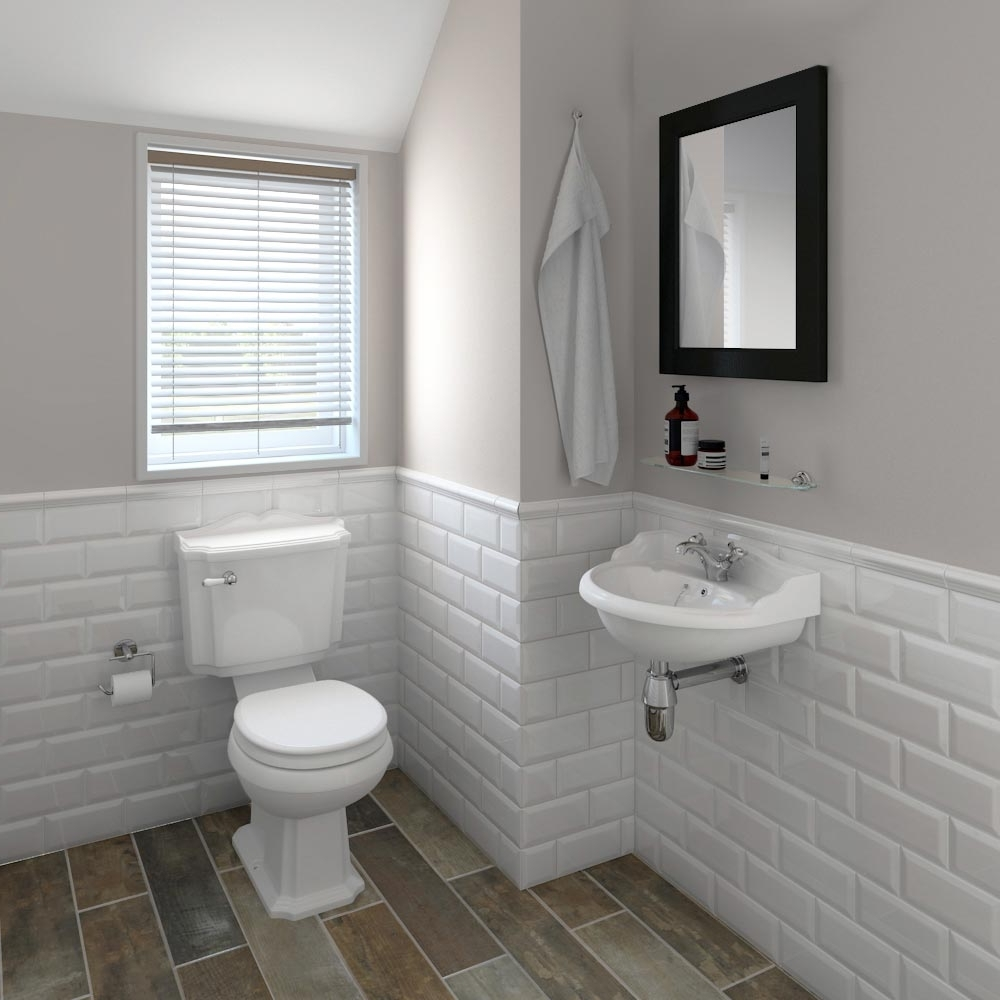 Oxford Cloakroom Suite With Basin Mixer, Waste & Chrome Bottle Trap At Victorian Plumbing Uk 30+ Metro Tiles Small Bathroom Ideas