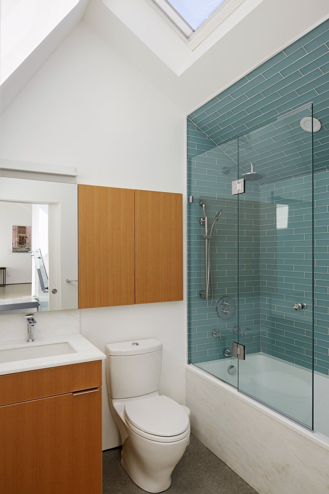 Photo 16 Of 18 In Bath Subway Tile Alcove Photos From A Pitched Roof Bathroom