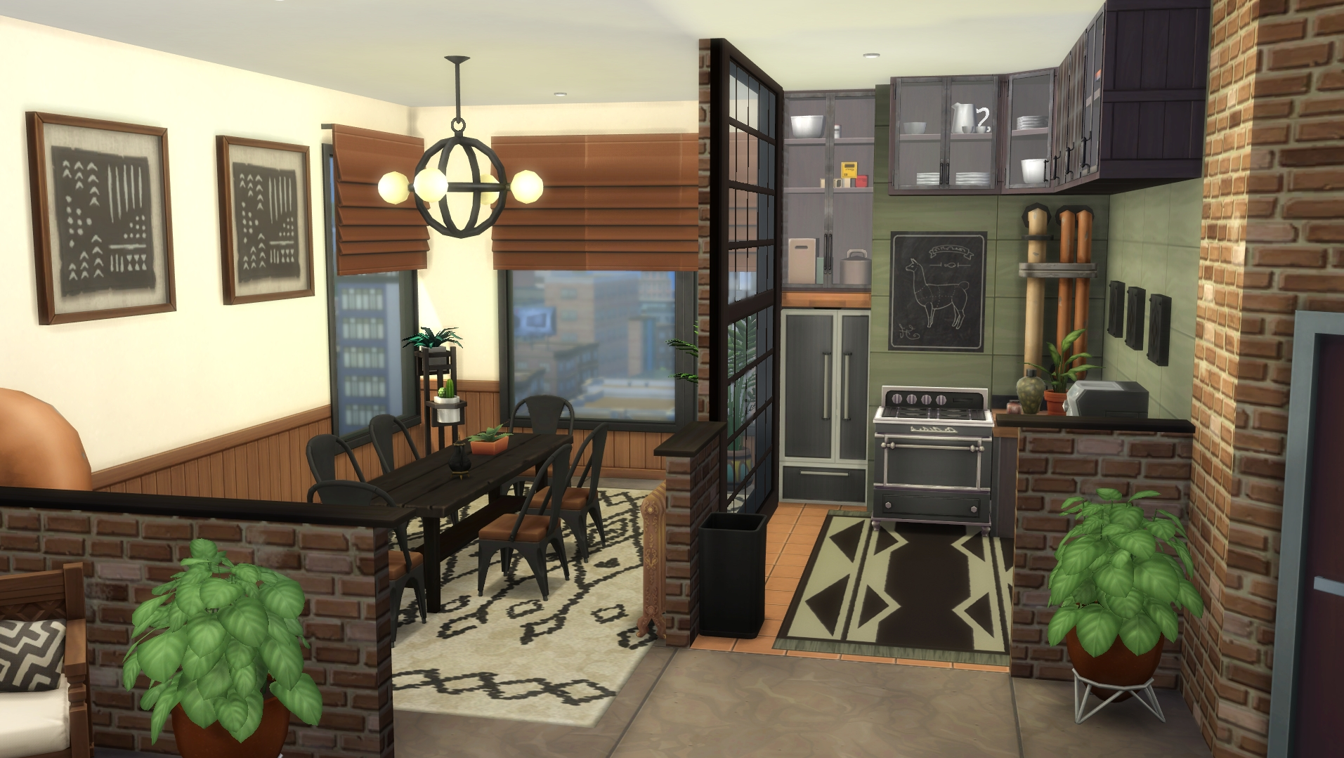 Re Vamped One Of The San Myshuno Apartments And Gave It A 40+ Sims 4 Living Room No Cc Inspirations