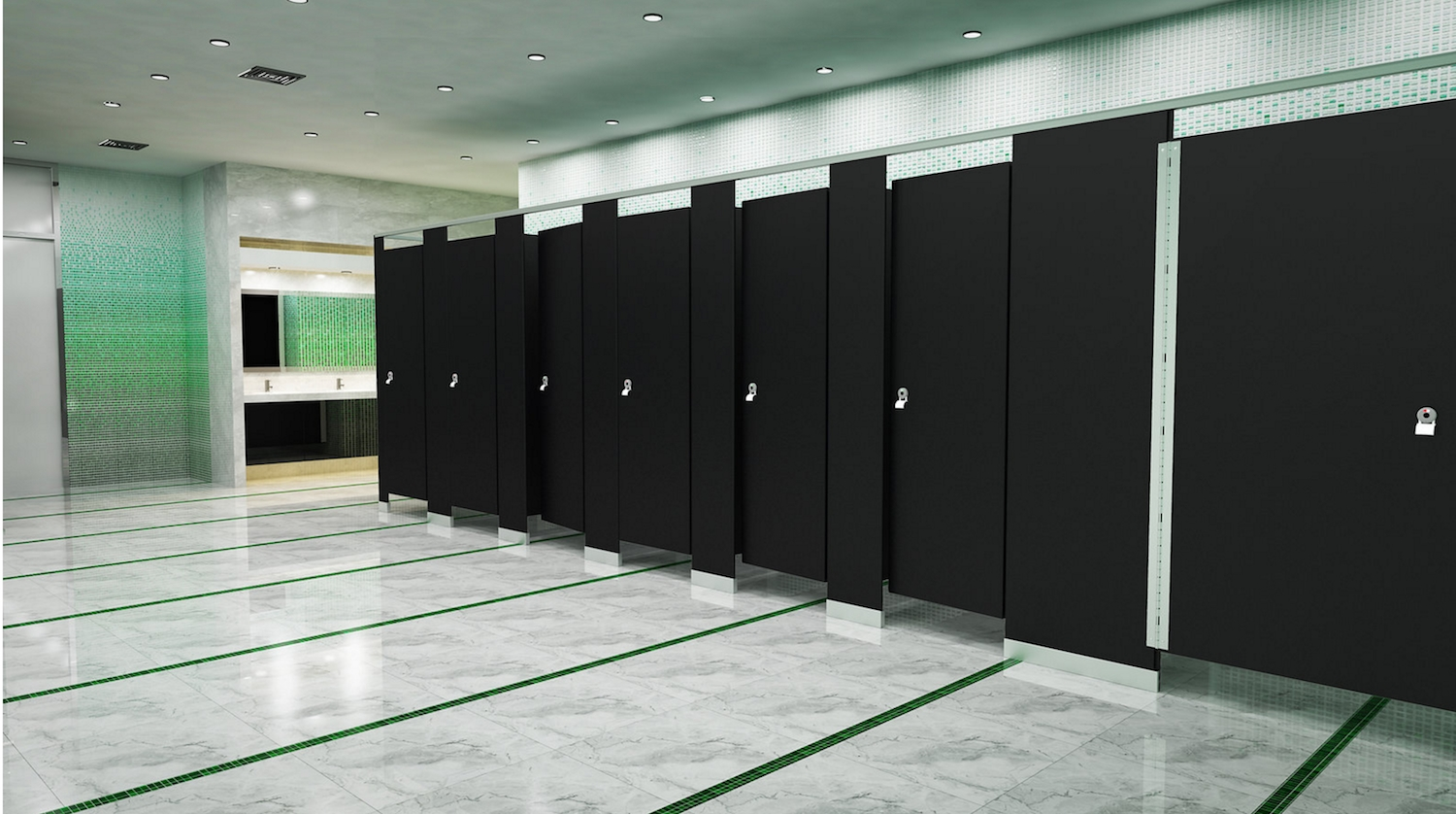 Reclaiming Privacy In Bathrooms Through New Partitions Commercial Bathroom Stalls Design