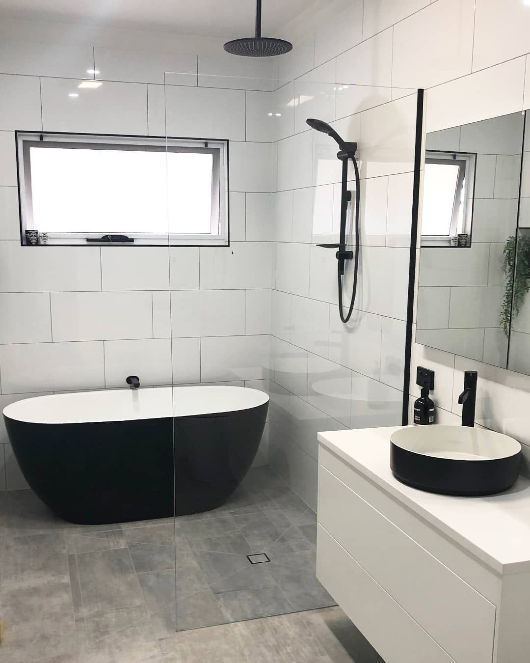 """Reece Bathrooms On Instagram: """"Black And White With A 30+ Reece Plumbing Bathroom Design Inspirations"""