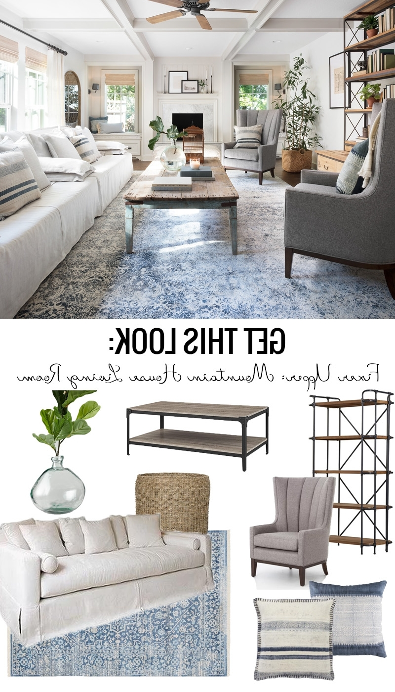 Remodelaholic | Get This Look: Fixer Upper Mountain House 20+ Living Room Fixer Upper Inspirations