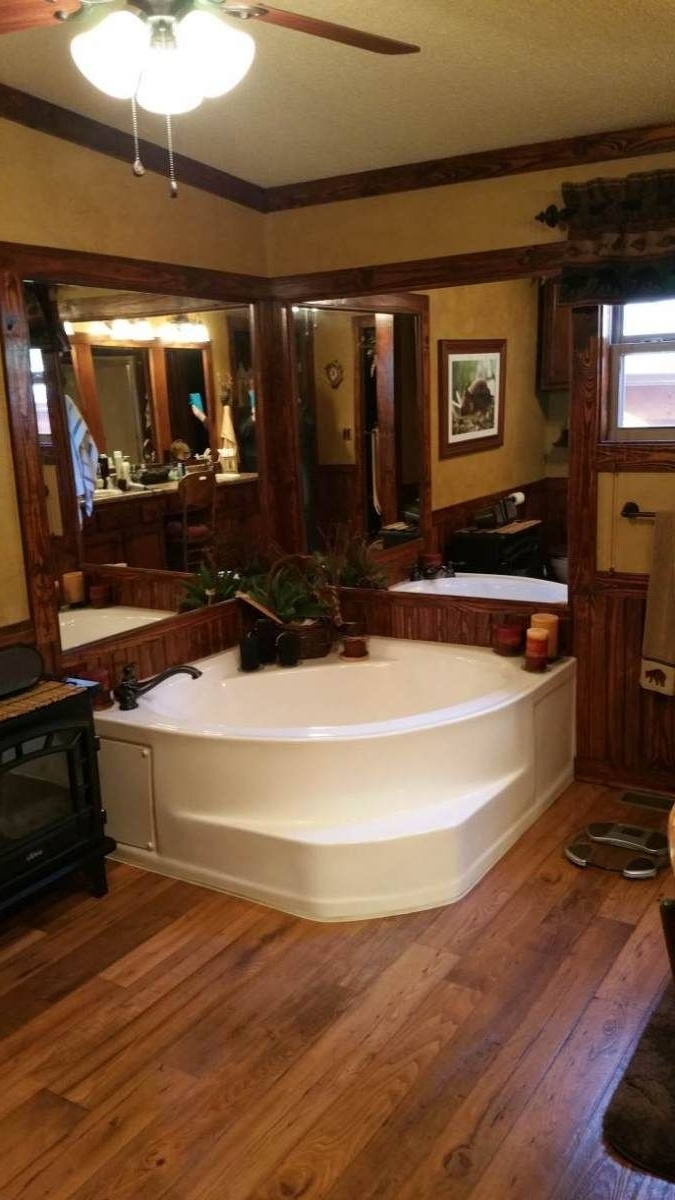 Rustic Cabin Manufactured Home Remodel | Mobile Home Living 40+ Mobile Home Bathroom Renovation Ideas