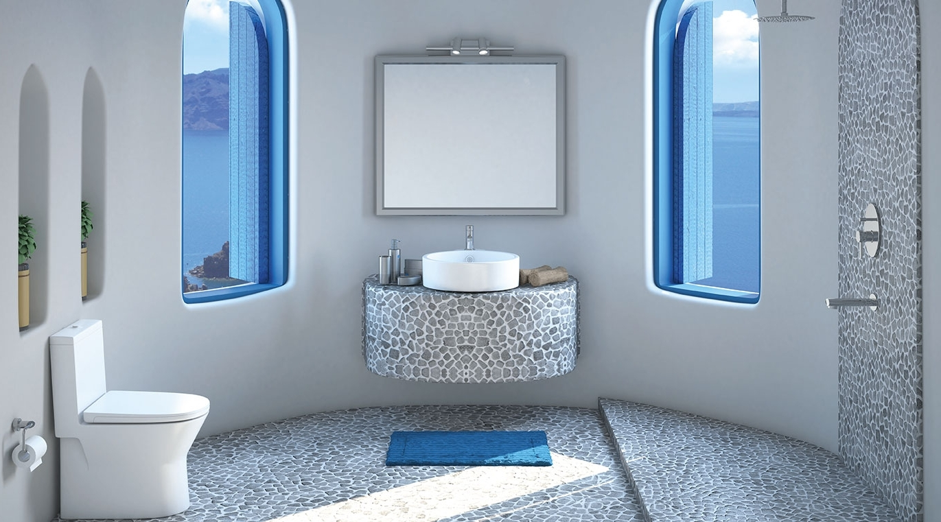 Santorini Hues Bathroom Theme | Pristine Collection Hindware Bathroom Design