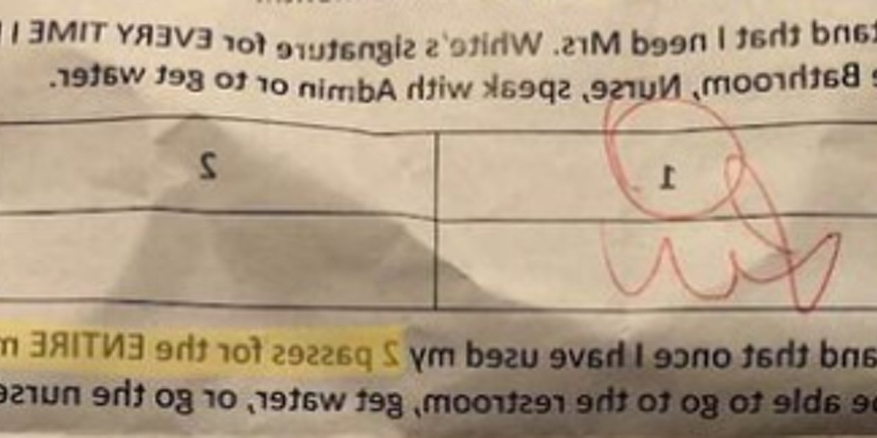 School Apologizes For Note Limiting Students To 2 Bathroom 30+ Bathroom Pass For Middle School Ideas