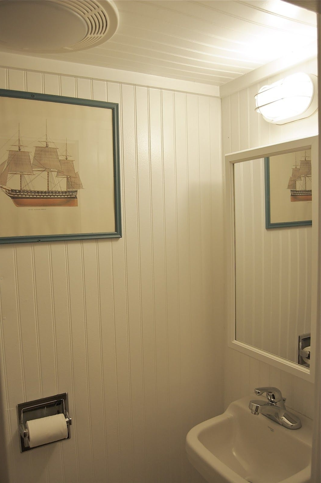 Seaside Shelter: Did You Just Size Me Up? | Beadboard 30+ Using Beadboard In A Small Bathroom Ideas