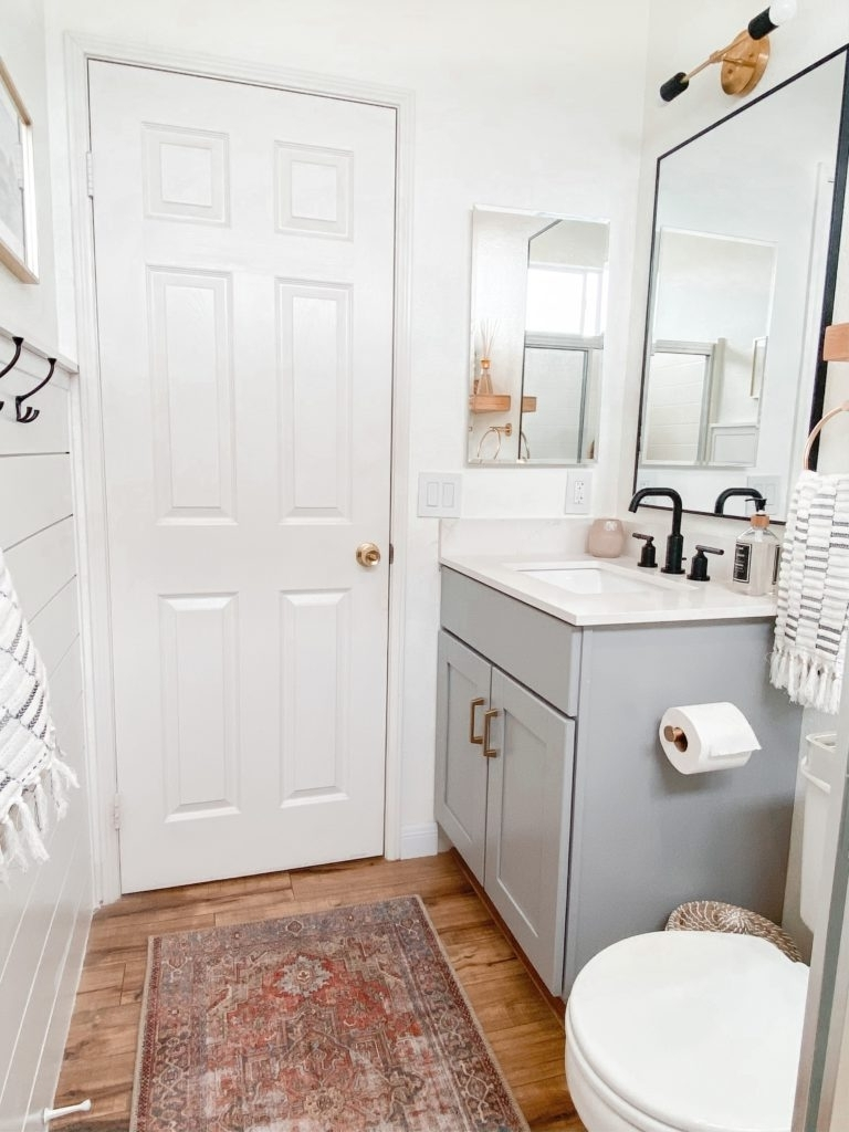 Small Bathroom Remodel Ideas: Befor And After   Domestic Blonde 10+ Board And Batten Small Bathroom Inspirations