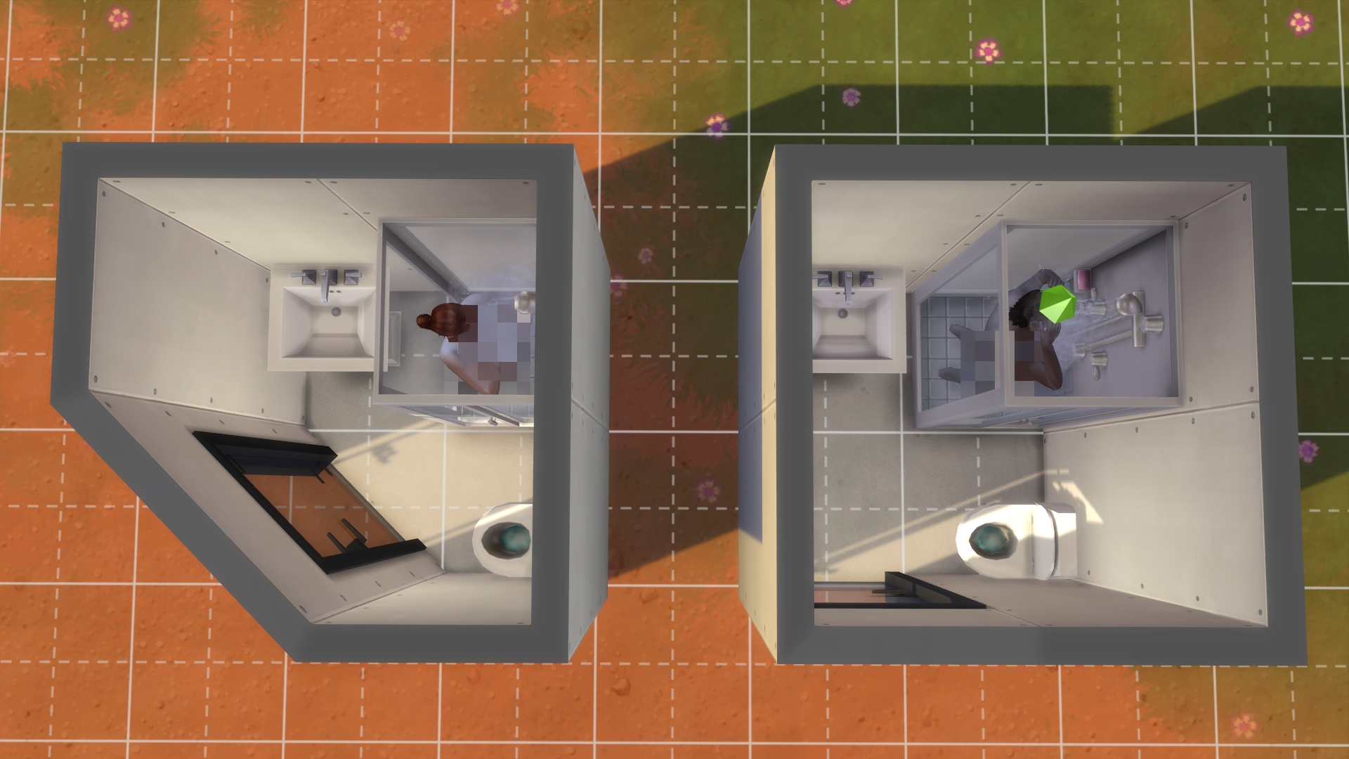 Small Bathrooms? : Thesims 2X2 Bathroom Design