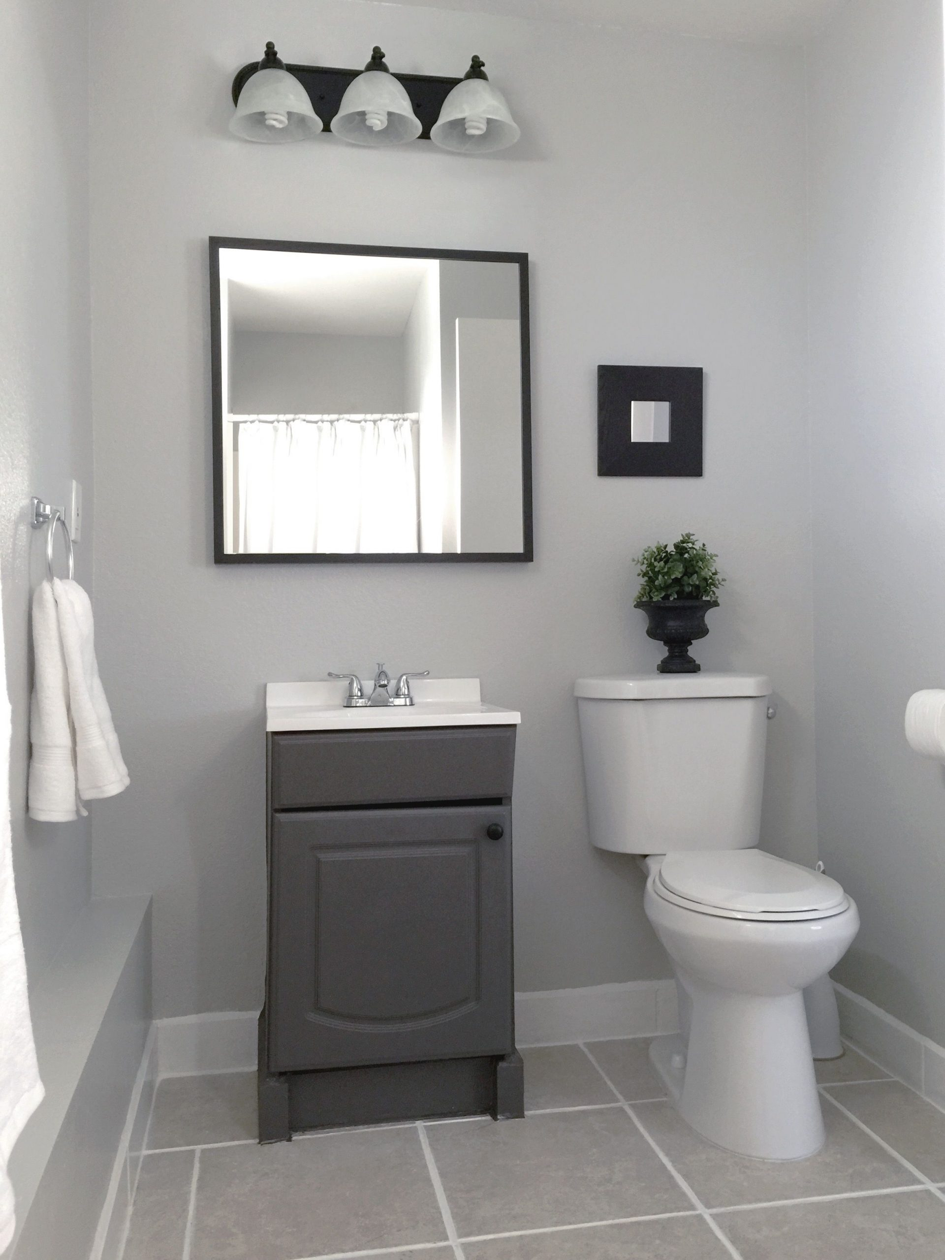 Small Garage Bathroom Painted : Vanity & Wall(Behr Bathroom Paint Color Behr