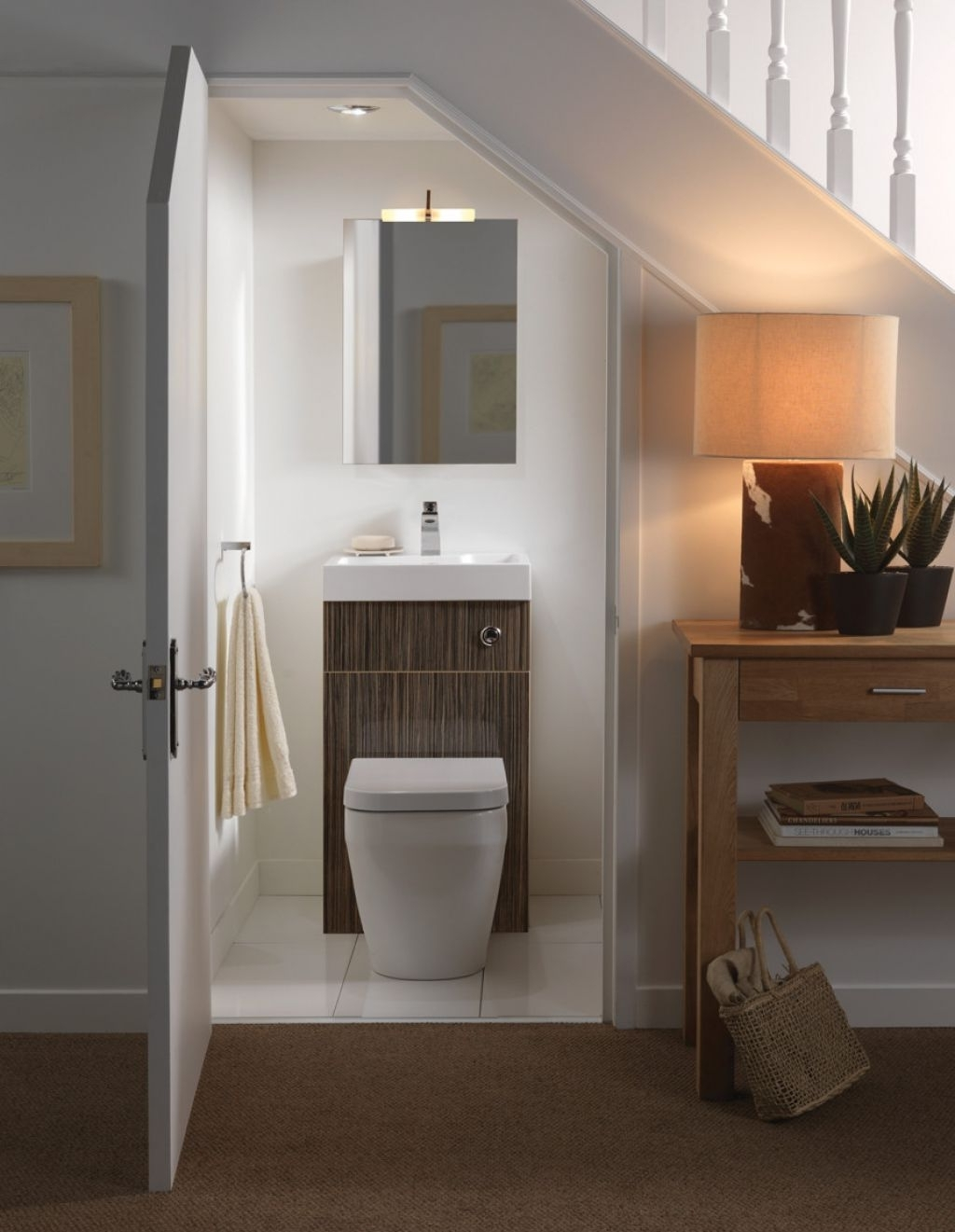 Small Guest Bathroom Under The Stairs 1,024×1,321 Pixels Bathroom Under Stairs Design