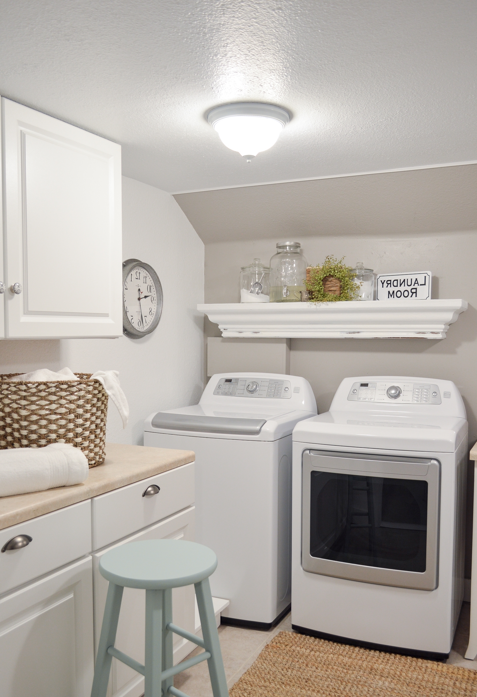 Small Space Combination Laundry Room Powder Bathroom Refresh Combined Bathroom And Laundry