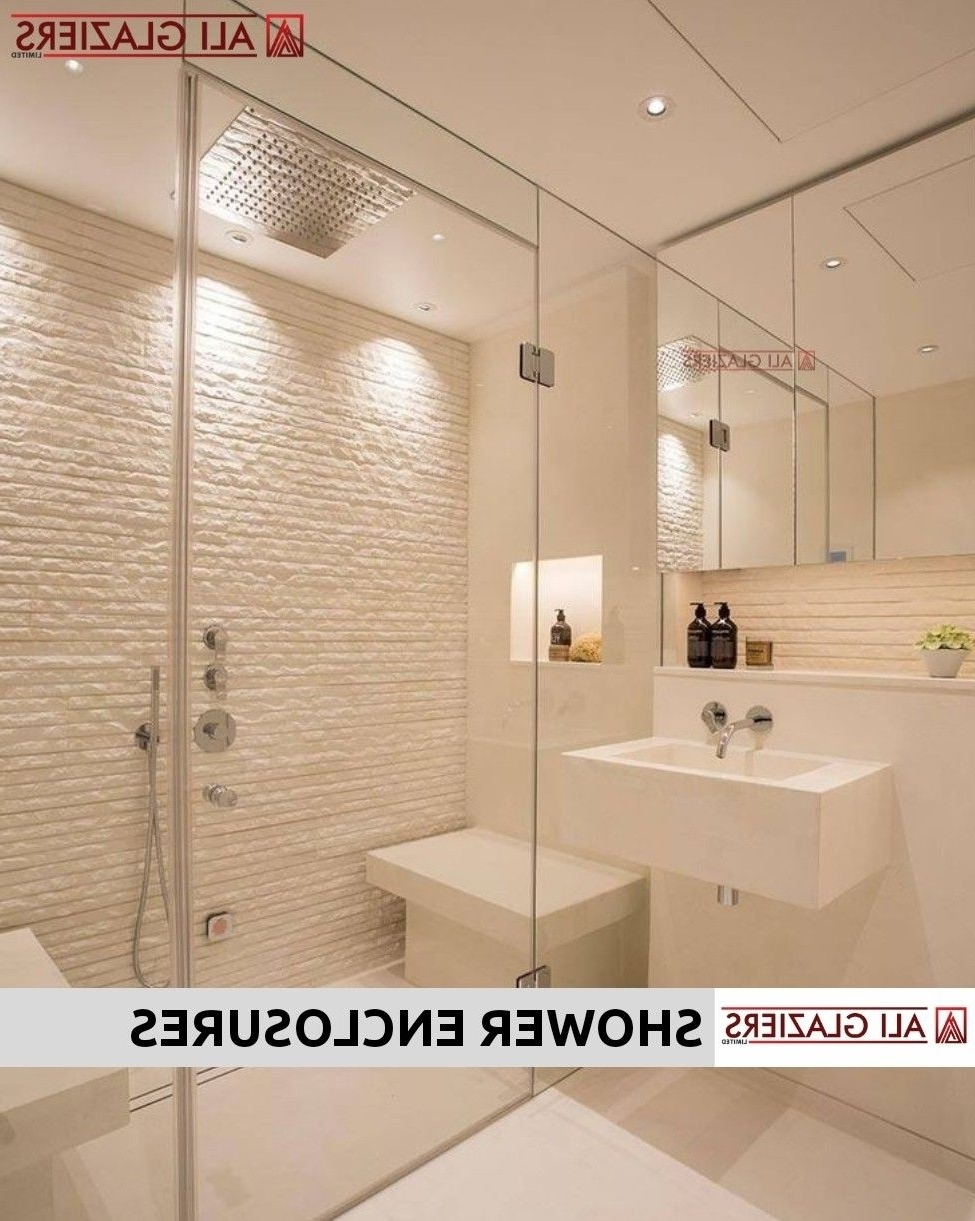 Straight Shower Enclosures With Glass To Glass Hinged Doors Modern Bathroom Designs In Kenya