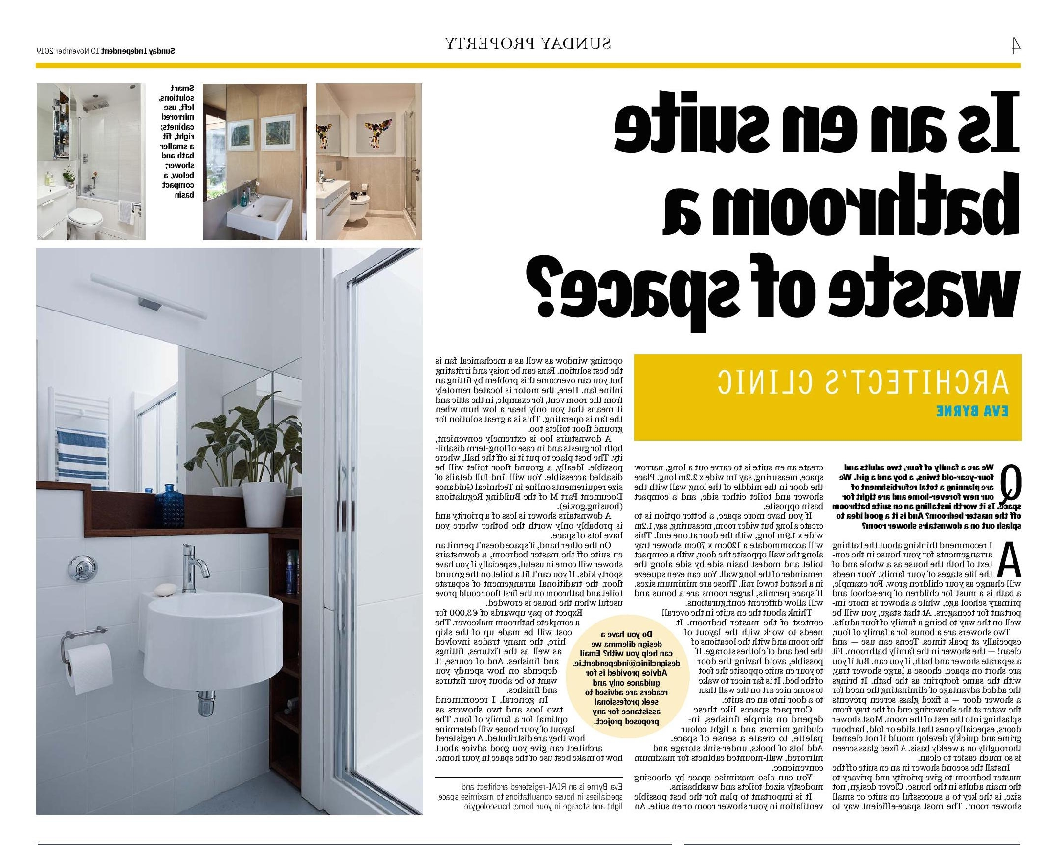 Sunday Independent: Is An En Suite Bathroom A Waste Of Space Small Ensuite Bathroom Ireland