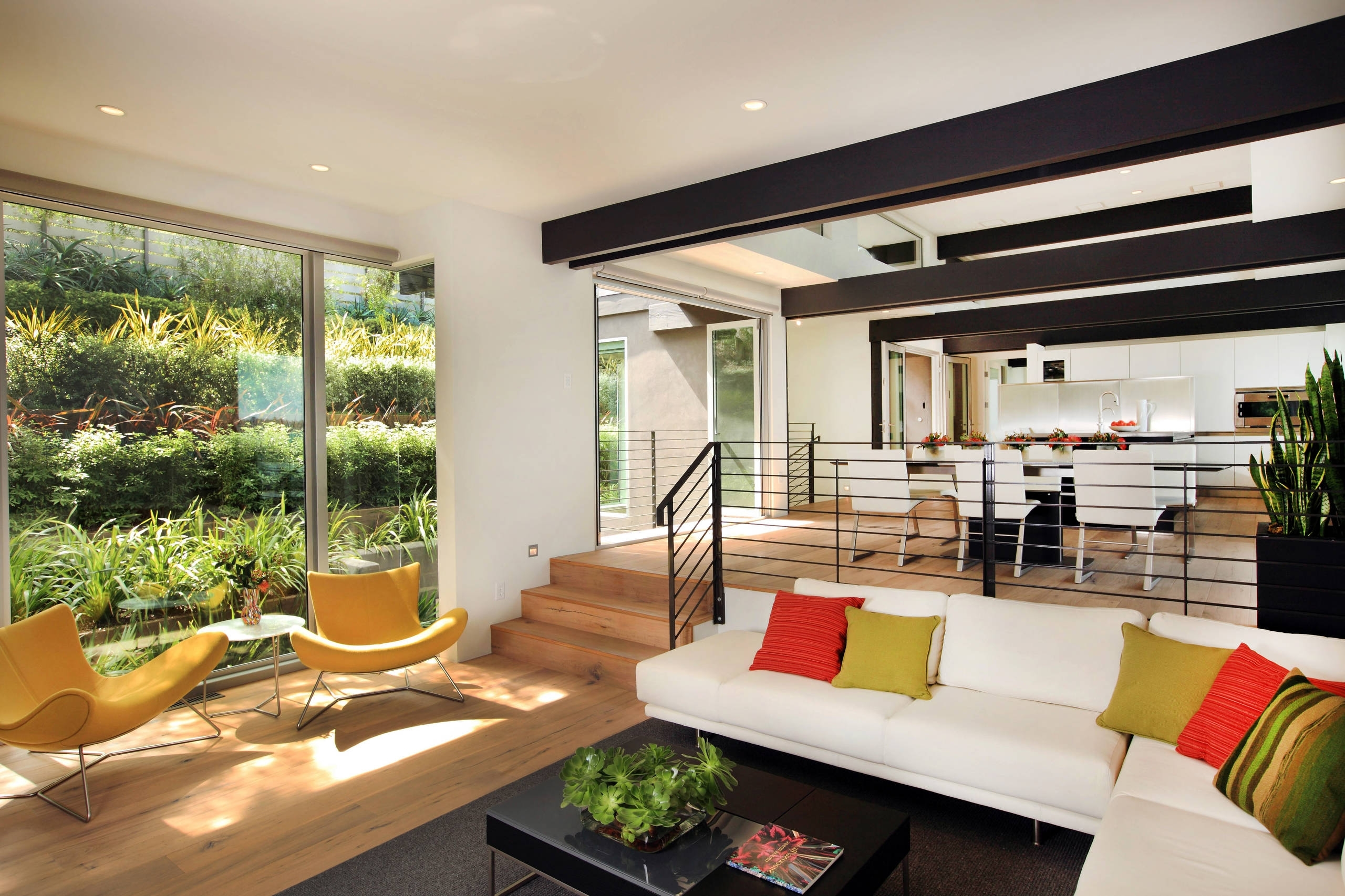Sunken Living Room | Houzz Sunken Living Room