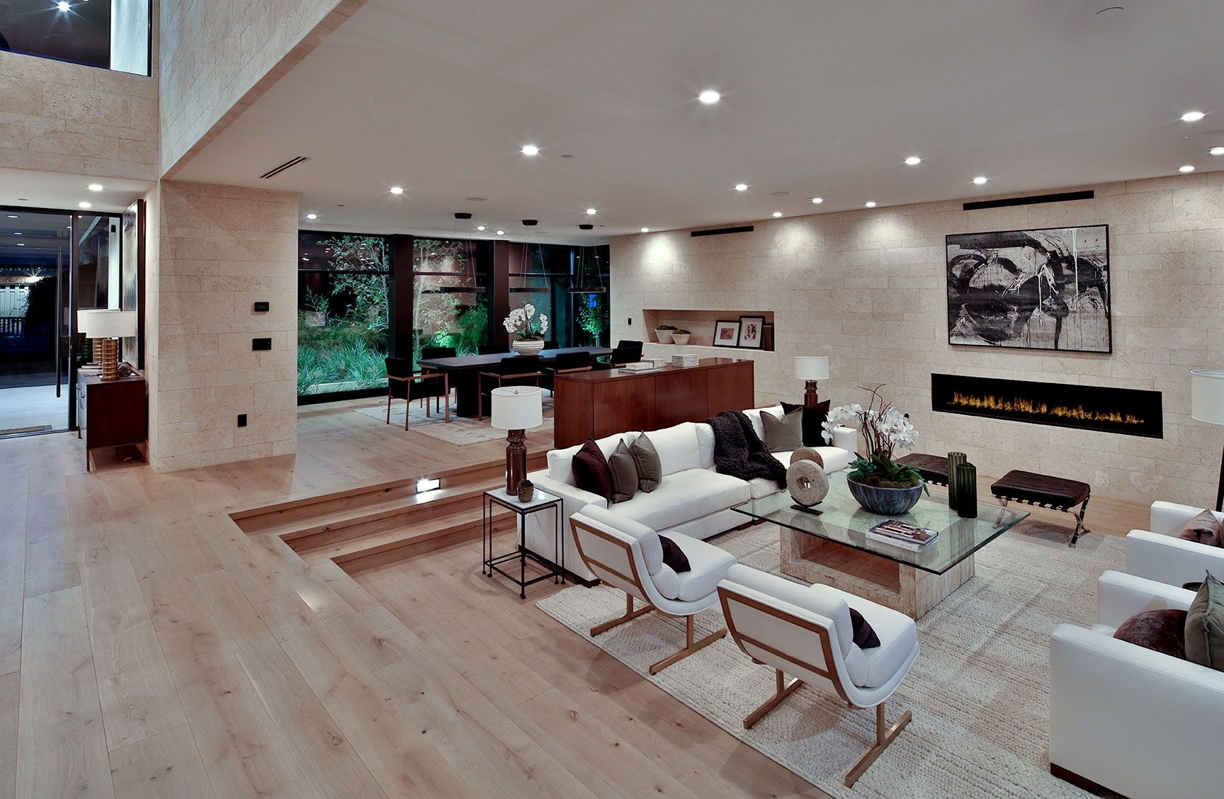 Sunken Living Room In California Luxury Home | Sunken Living 30+ Sunken Living Room Ideas
