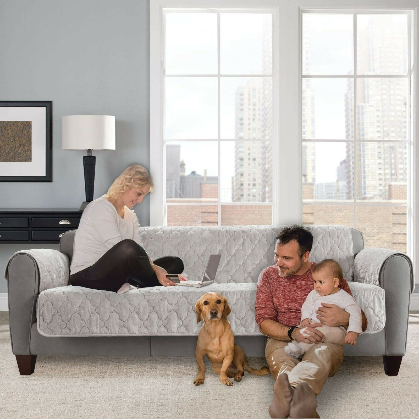 Sure Fit Faux Mink Sofa Furniture Cover Pet Furniture Cover Grey Gray 20+ Mink And Grey Living Room Ideas